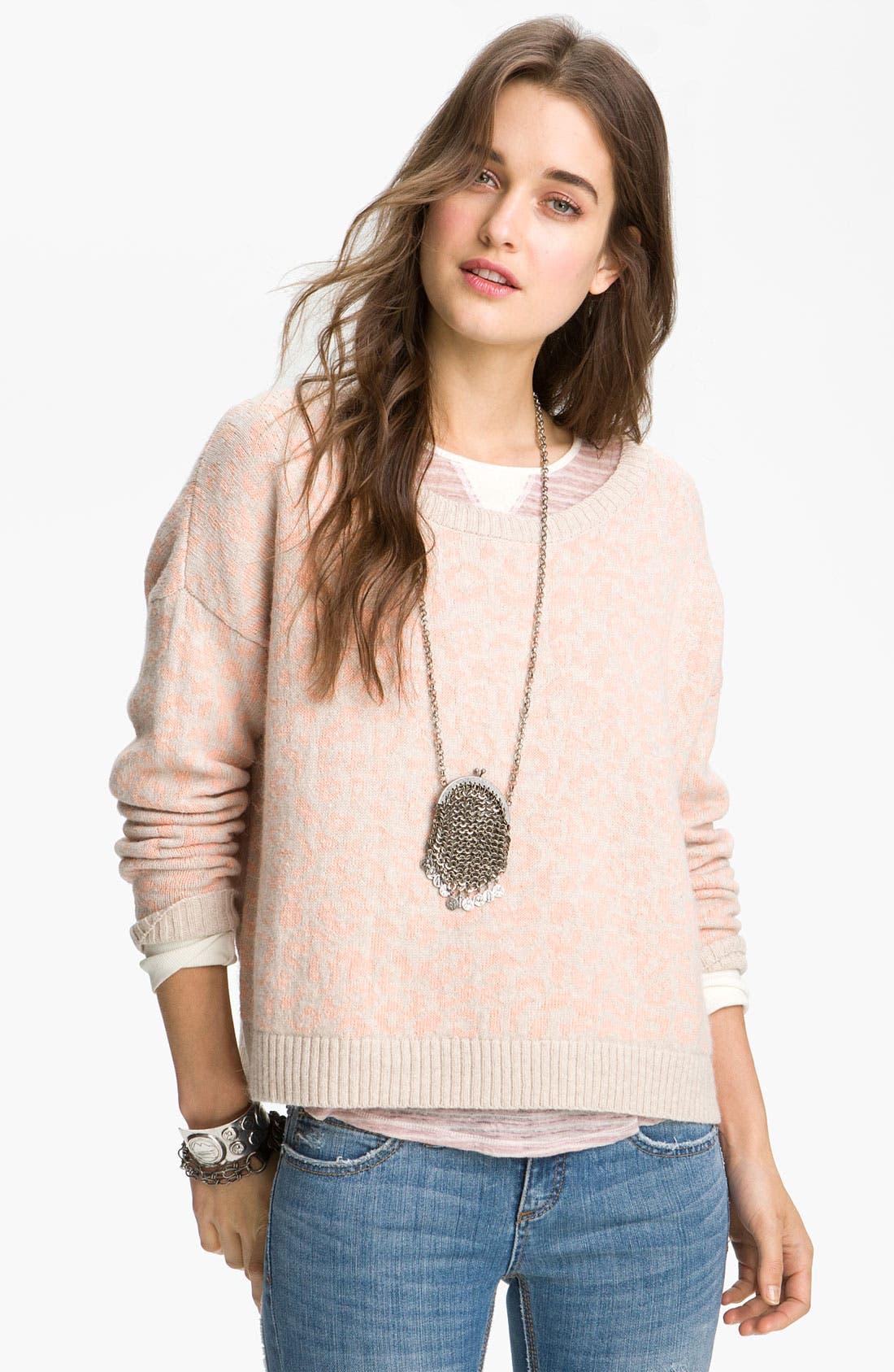 Alternate Image 1 Selected - Free People Leopard Print Sweater