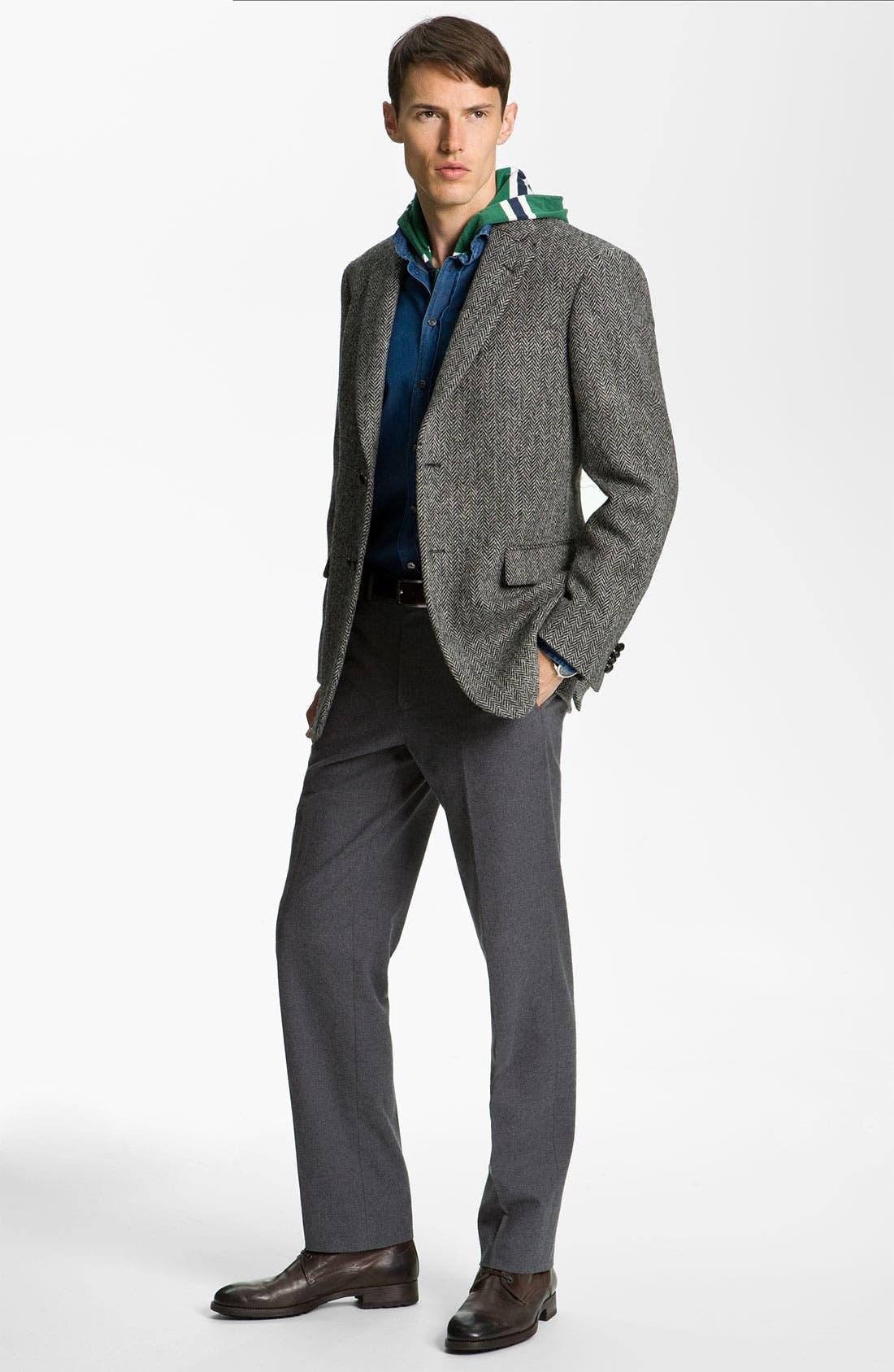 Alternate Image 4  - John W. Nordstrom® Herringbone Sportcoat