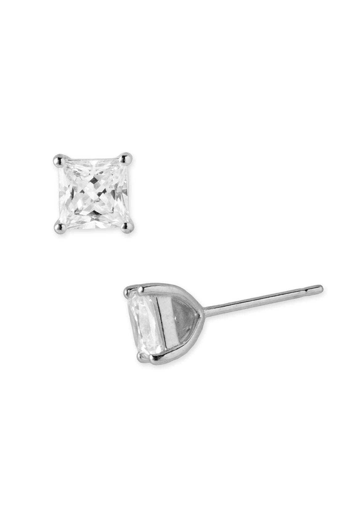 Main Image - Nordstrom 2ct tw Princess Stud Earrings