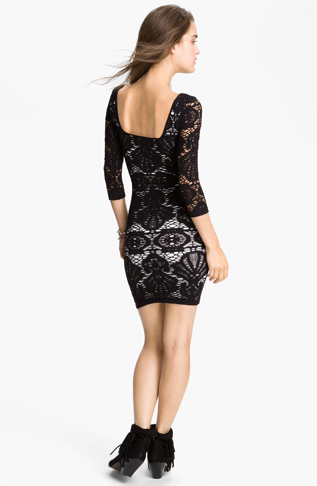Alternate Image 2  - Free People Stretch Lace Body-Con Dress