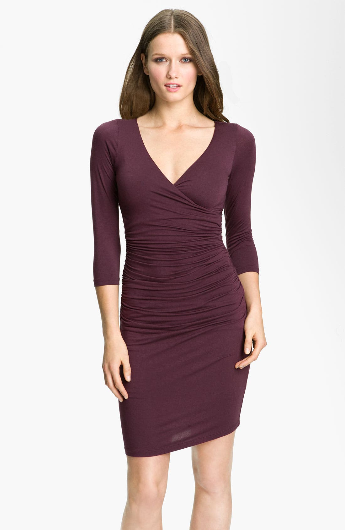 Main Image - Velvet by Graham & Spencer Surplice Jersey Sheath Dress