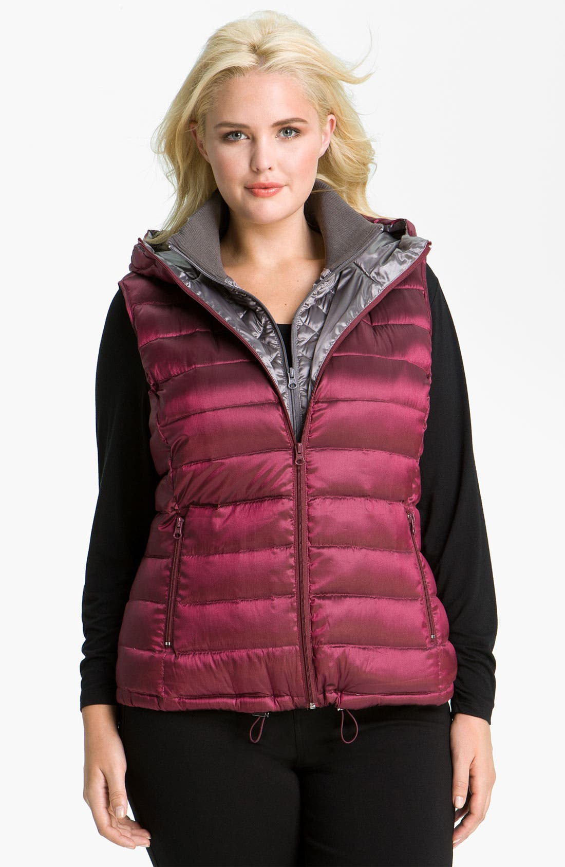 Main Image - Bernardo Iridescent Down Vest (Plus)