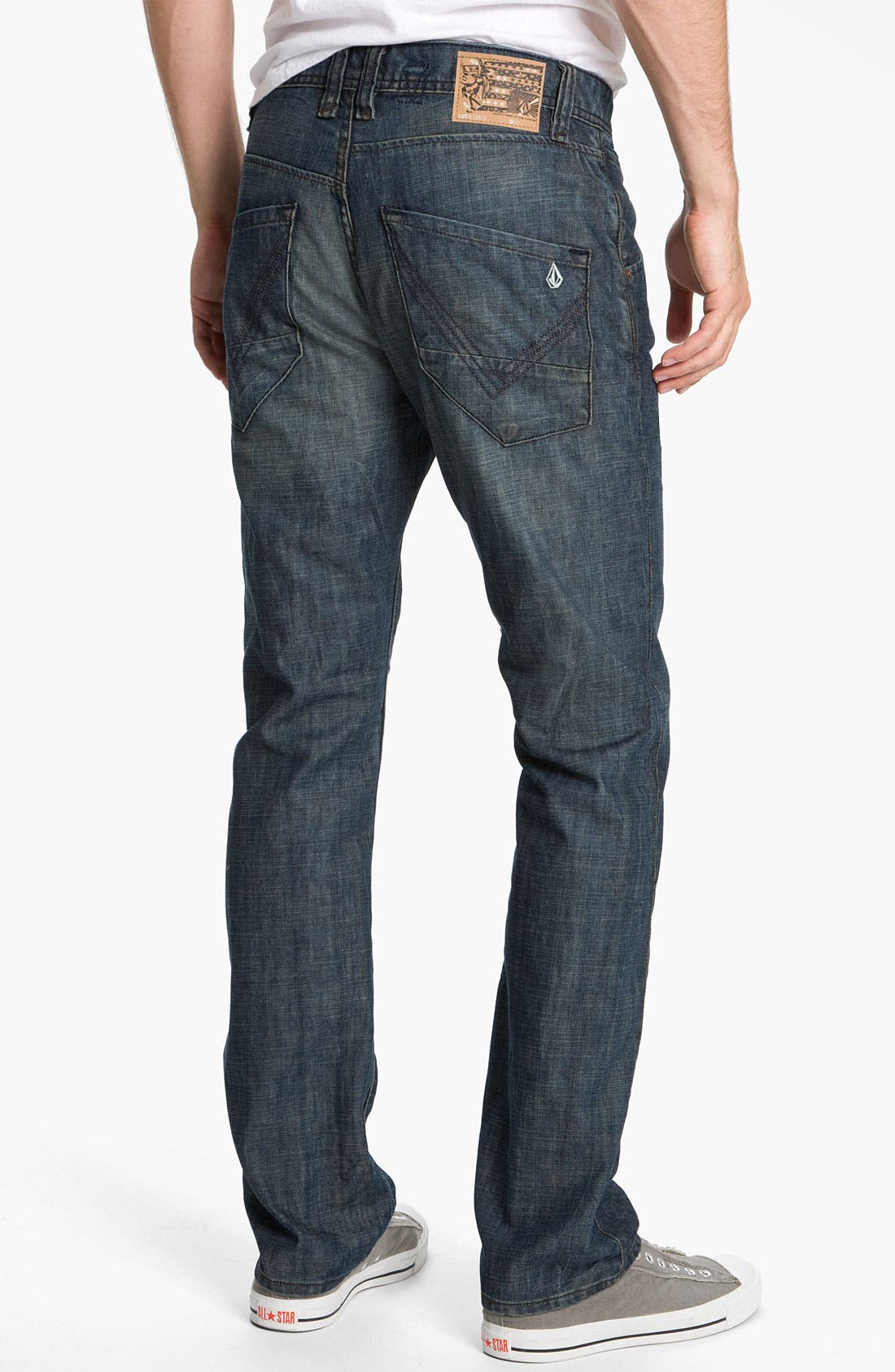 Alternate Image 1 Selected - Volcom 'Nova' Slim Straight Leg Jeans (Naz) (Online Only)