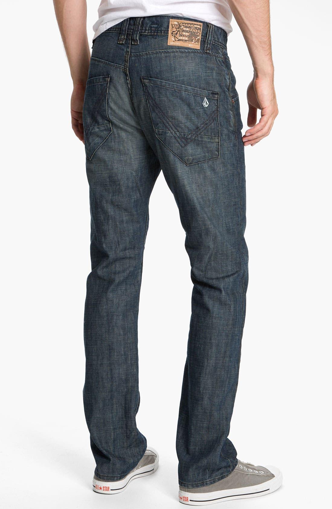 Main Image - Volcom 'Nova' Slim Straight Leg Jeans (Naz) (Online Only)
