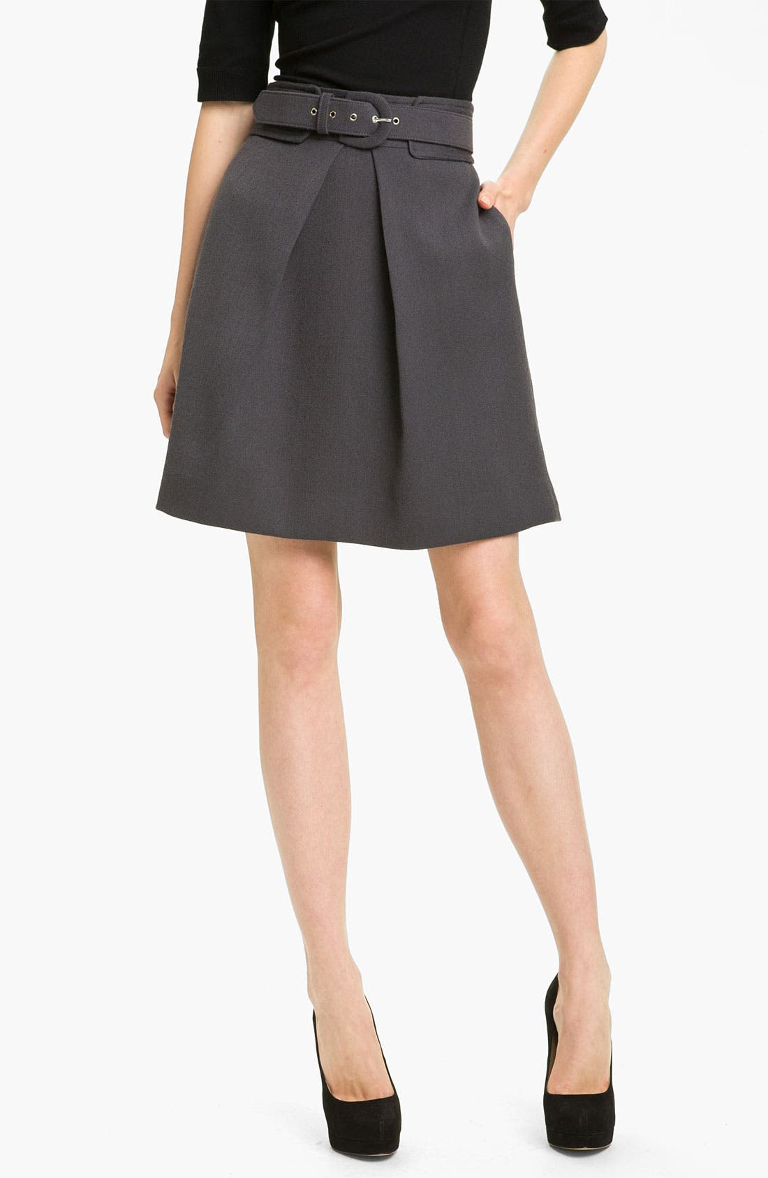 Main Image - Milly 'Aude' Wool Skirt