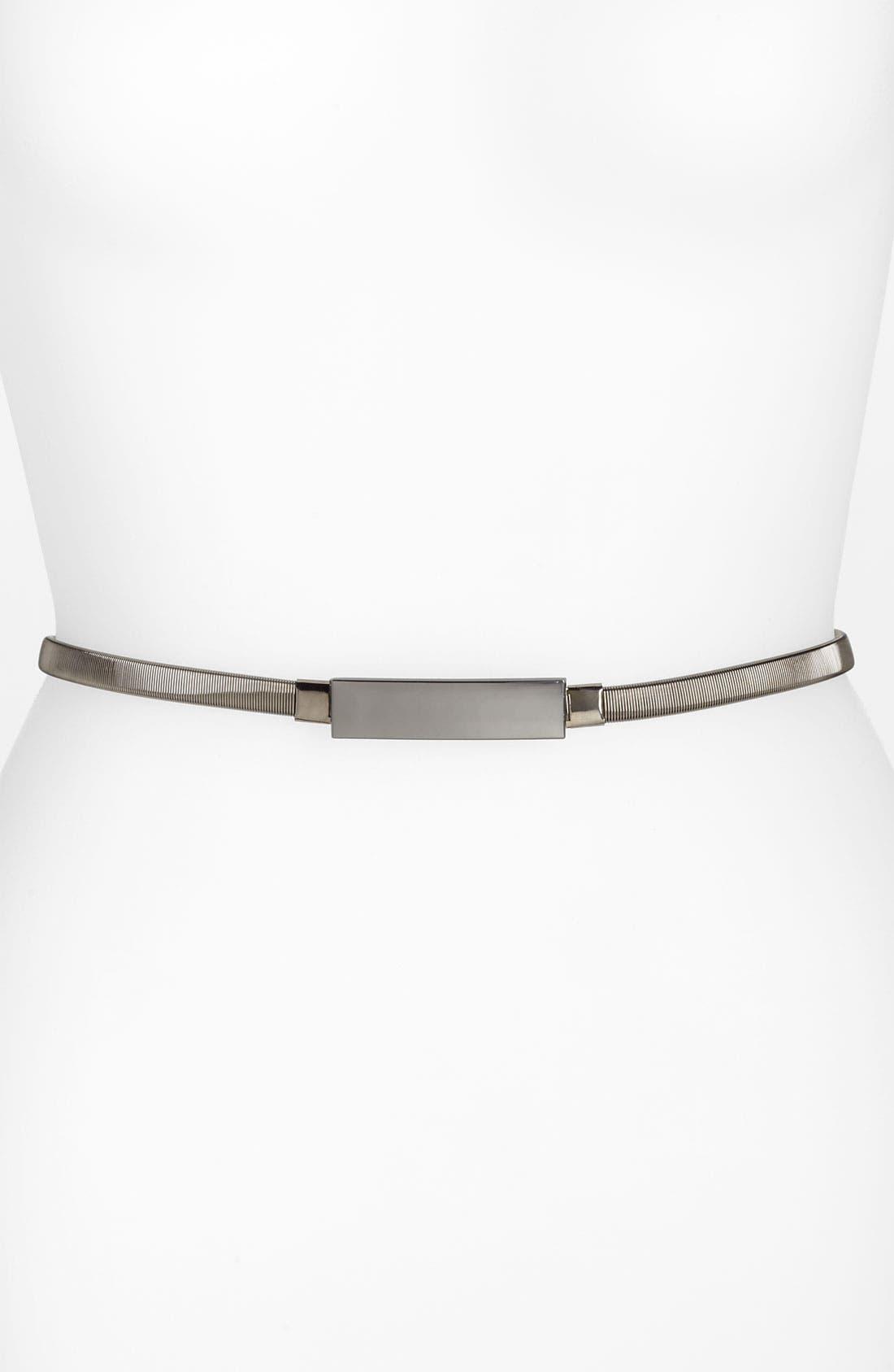 Alternate Image 1 Selected - Lulu Metal Stretch Skinny Belt