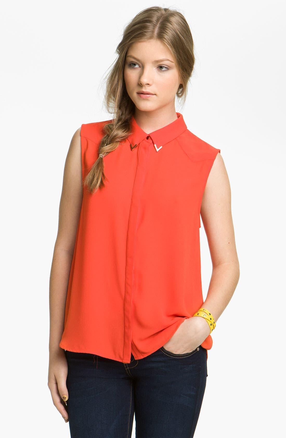 Alternate Image 1 Selected - Chloe K Western Shirt (Juniors)
