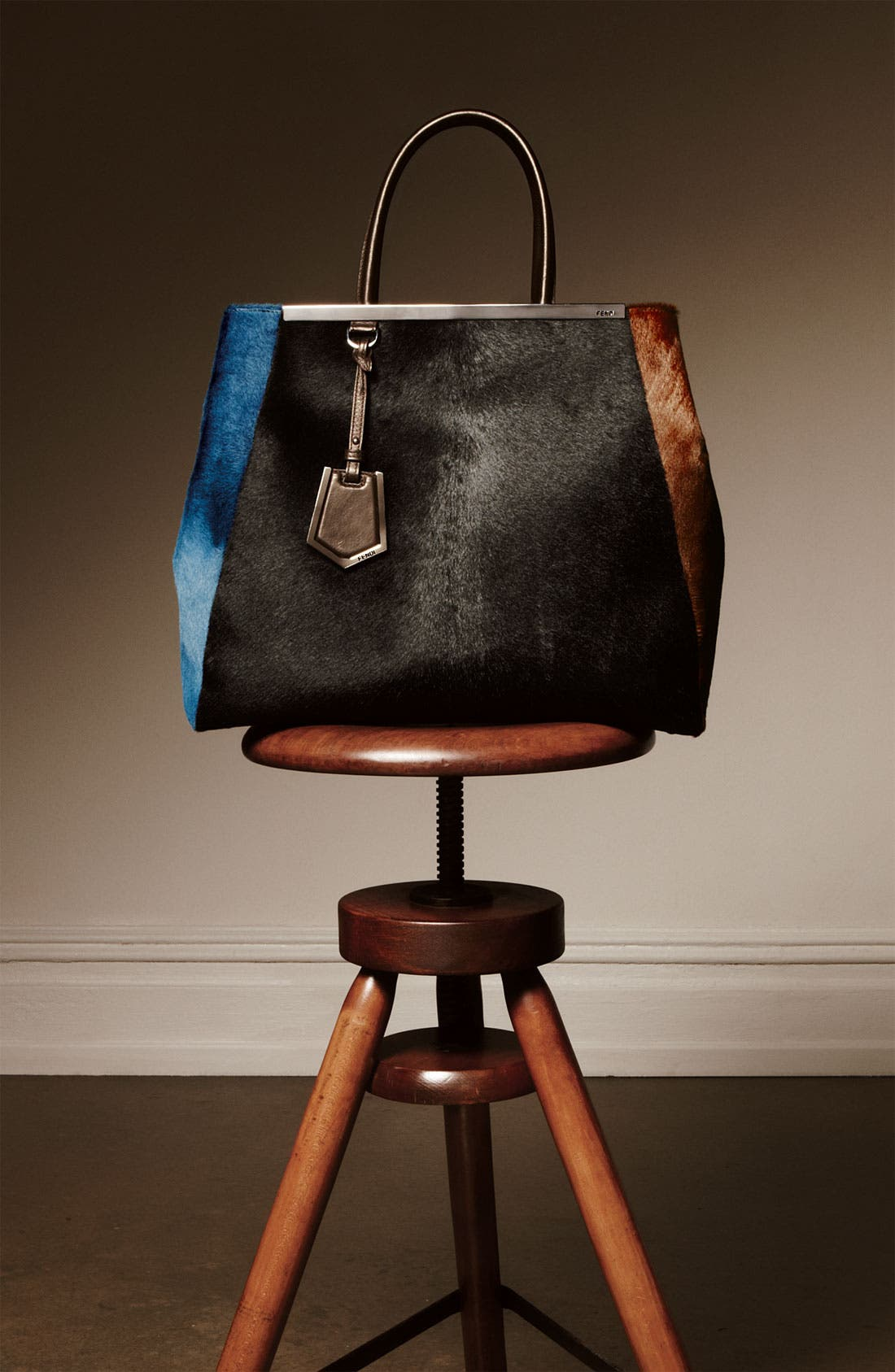 Alternate Image 5  - Fendi 'Medium 2Jours' Calf Hair Shopper