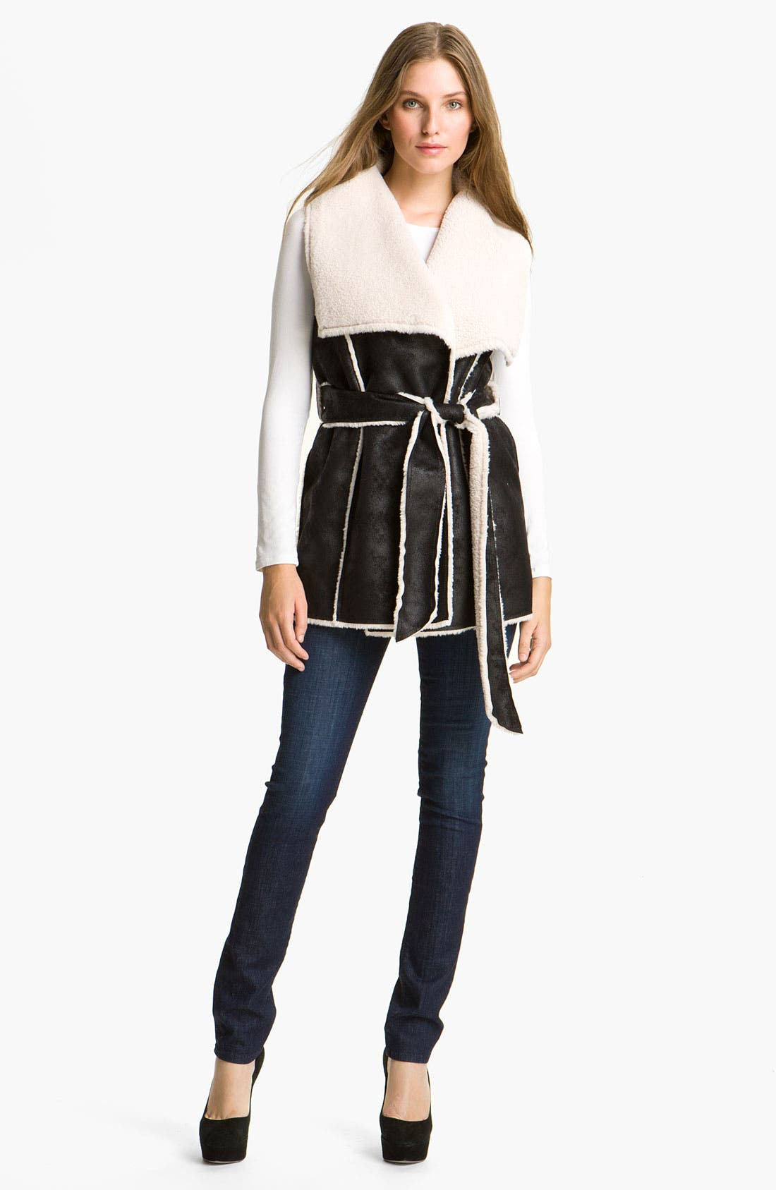 Main Image - Mcginn Belted Faux Shearling Vest