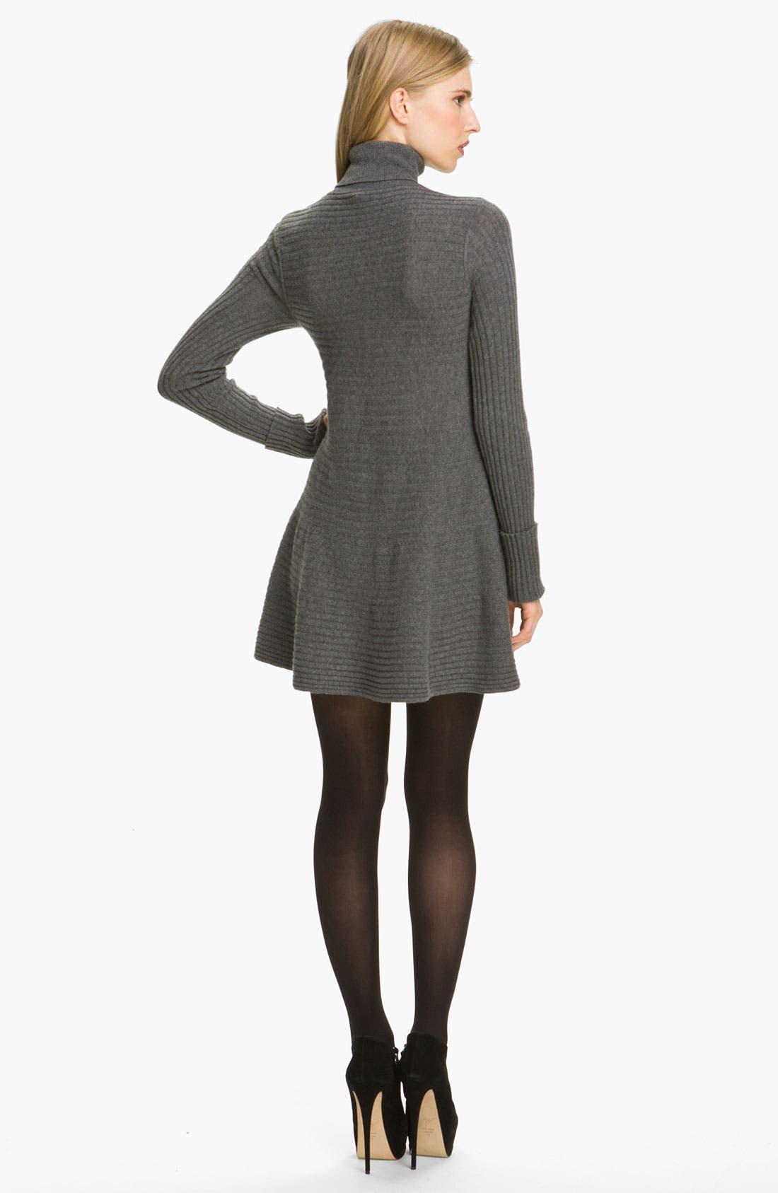 Alternate Image 2  - autumn cashmere Flared Rib Knit Minidress