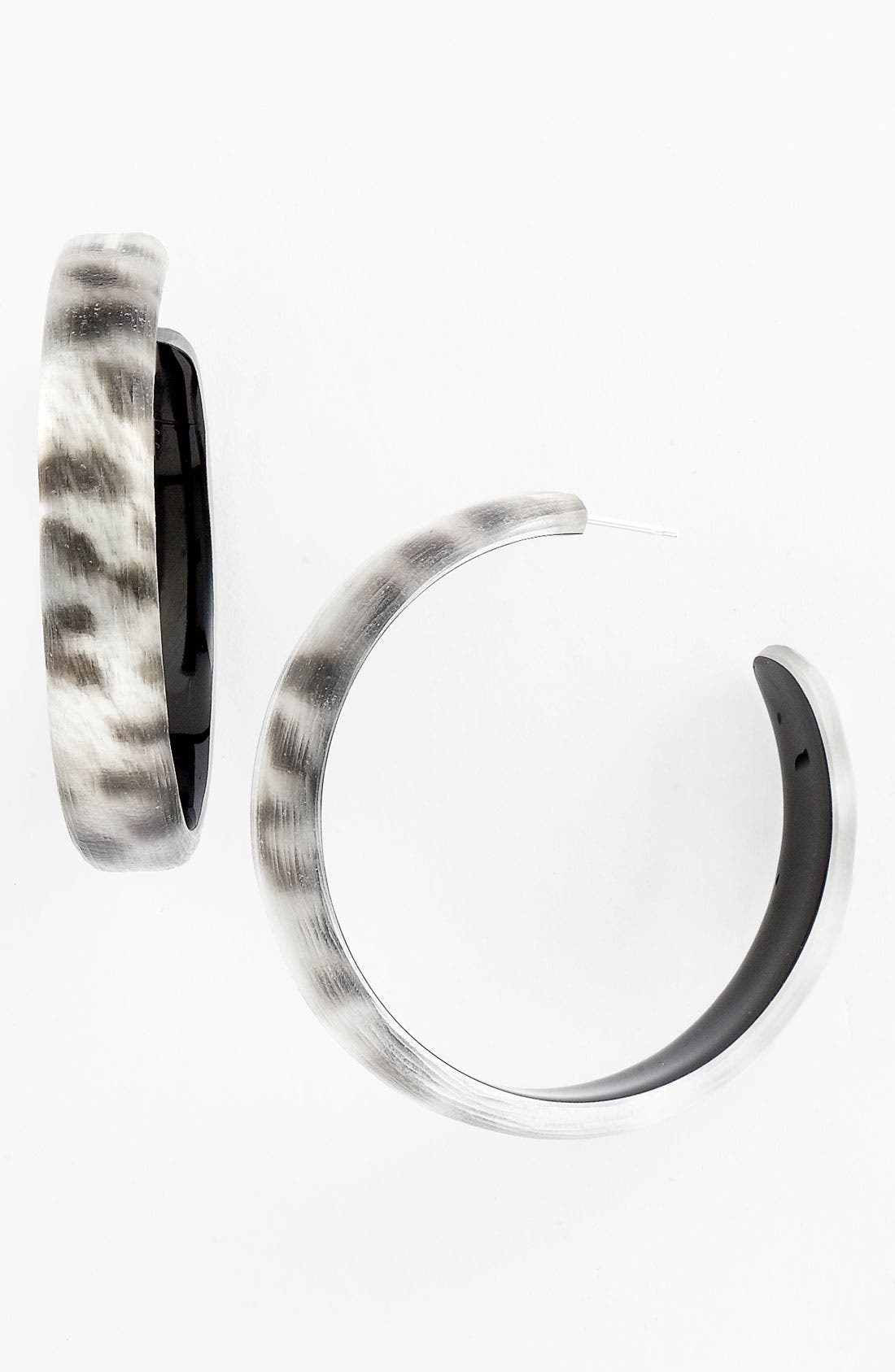 Alternate Image 1 Selected - Alexis Bittar Leopard Hoop Earrings