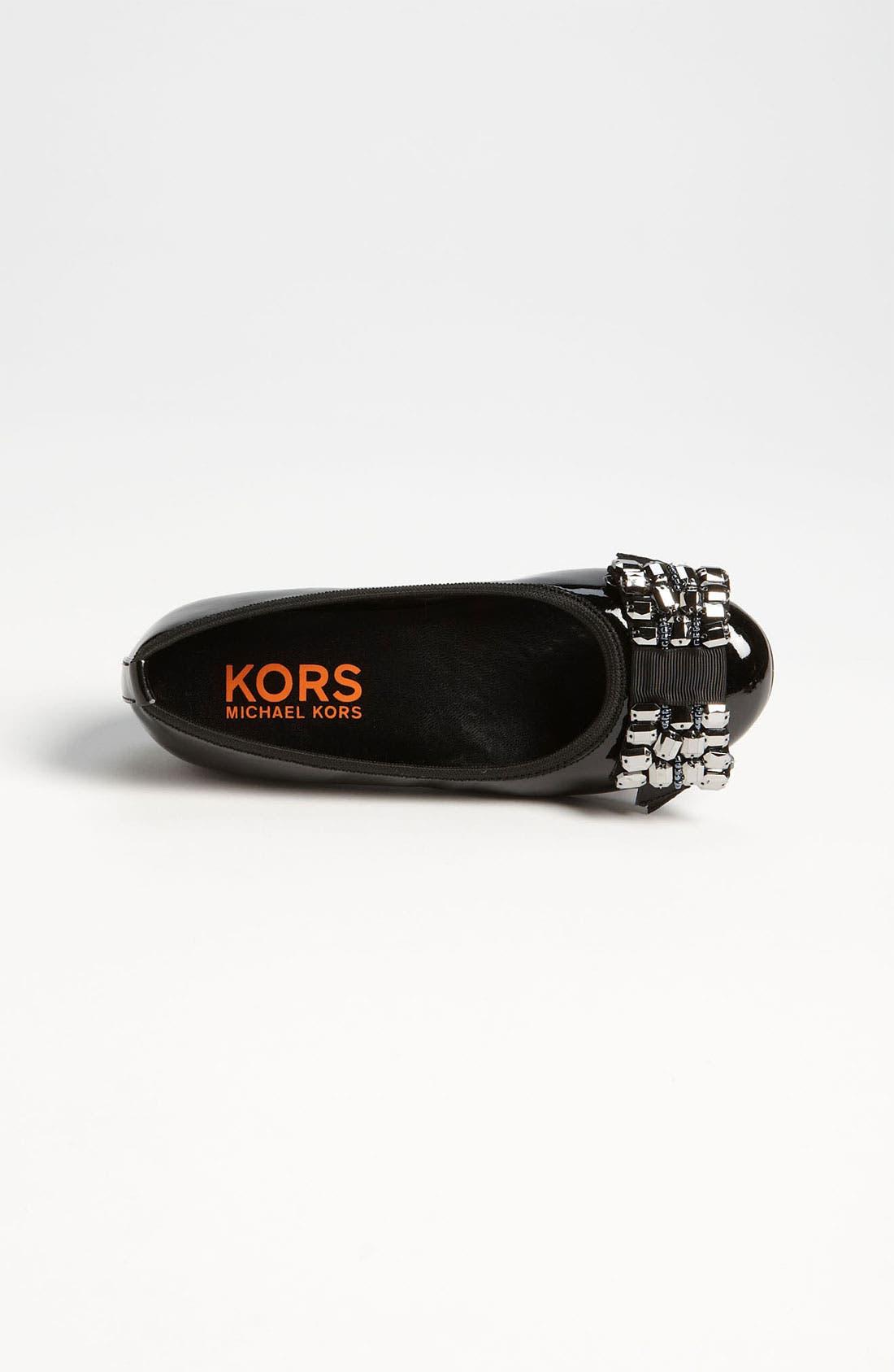 Alternate Image 3  - KORS Michael Kors 'Clove' Flat (Little Kid & Big Kid)