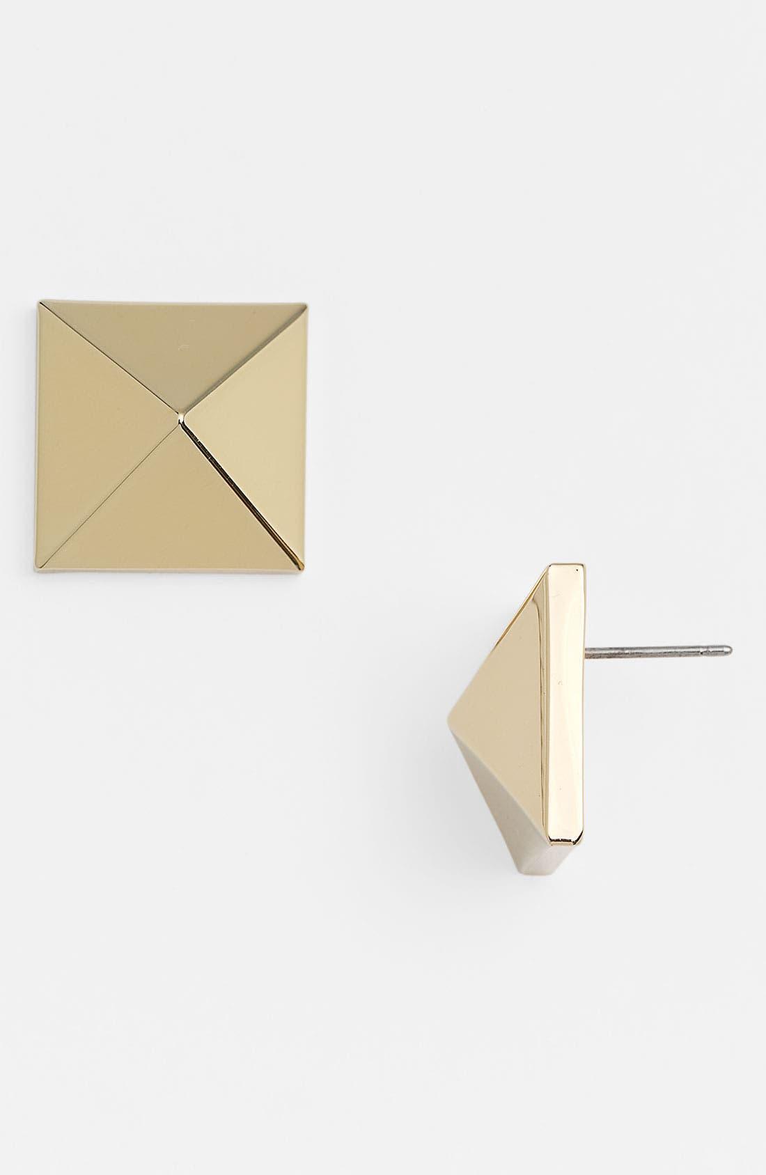 Alternate Image 1 Selected - Vince Camuto 'Basics' Medium Pyramid Stud Earrings
