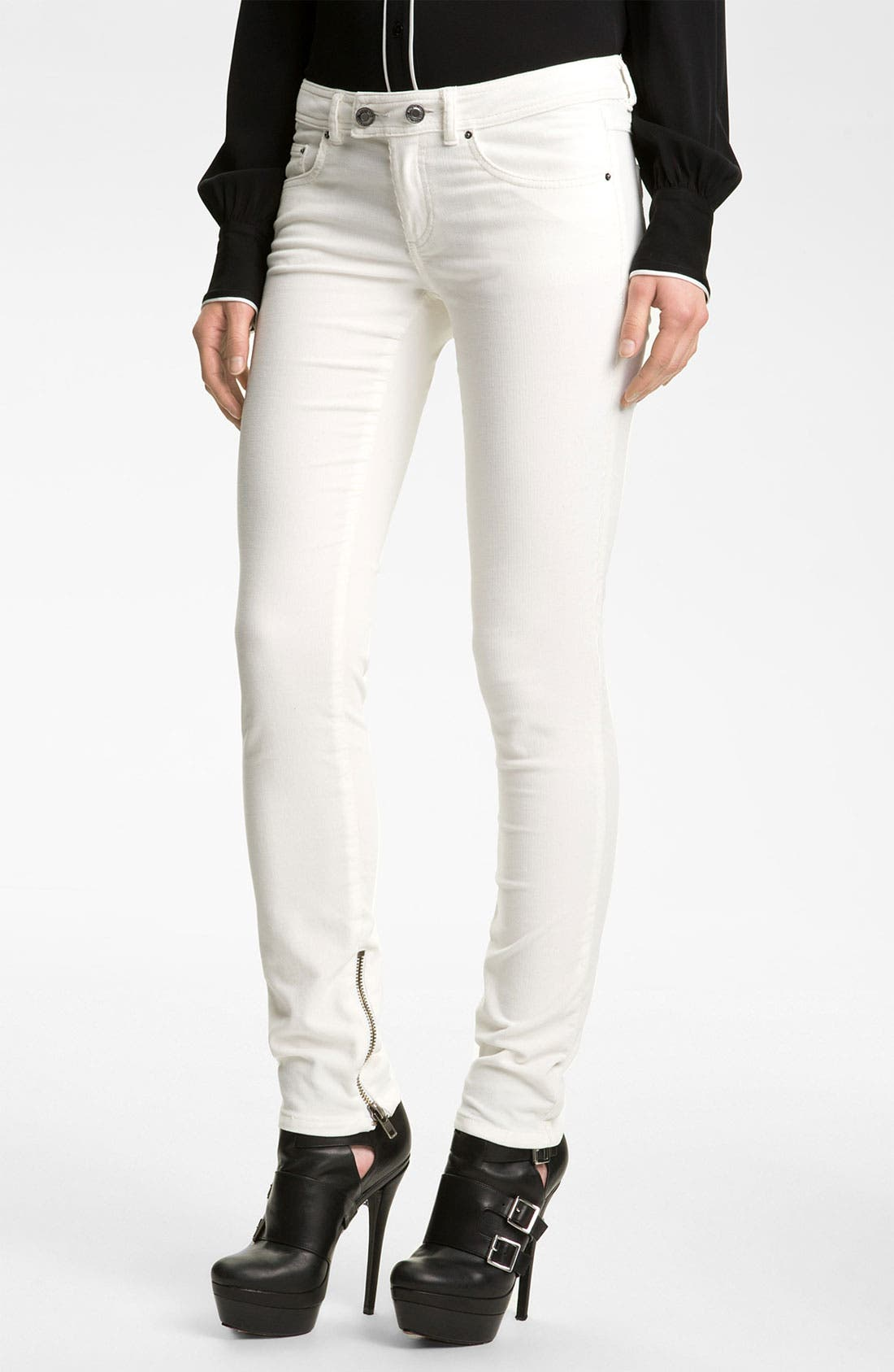 Alternate Image 1 Selected - Rachel Zoe 'Julie' Skinny Corduroy Pants