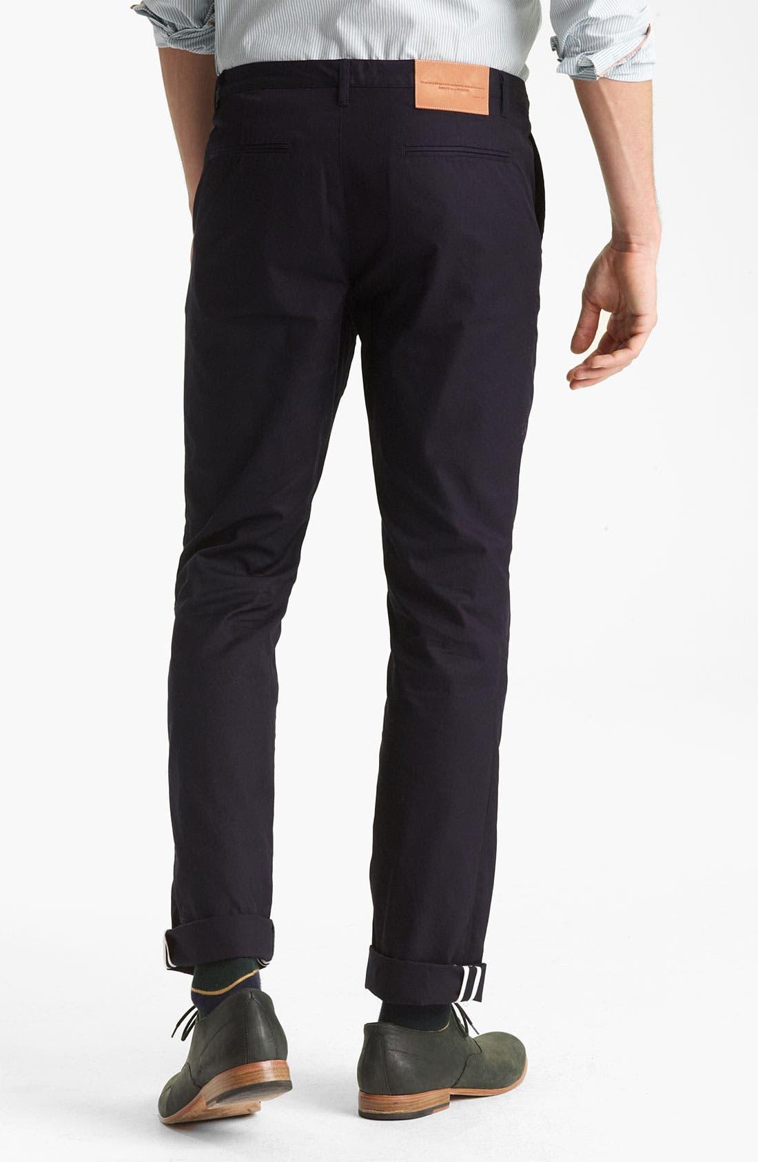 Alternate Image 2  - Shipley & Halmos 'Belmont' Slim Fit Cotton Pants