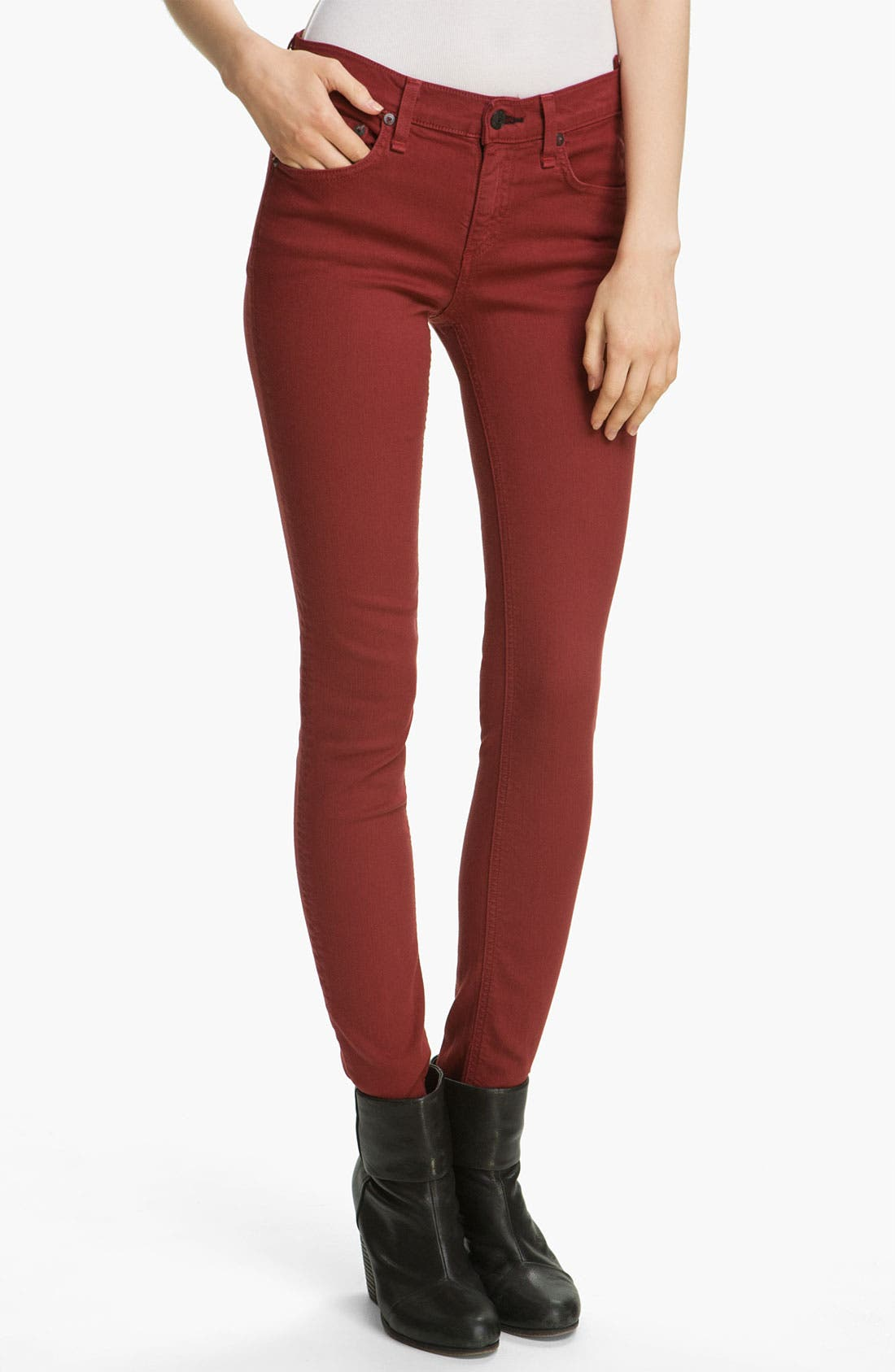 Alternate Image 1 Selected - rag & bone/JEAN Skinny Stretch Jeans