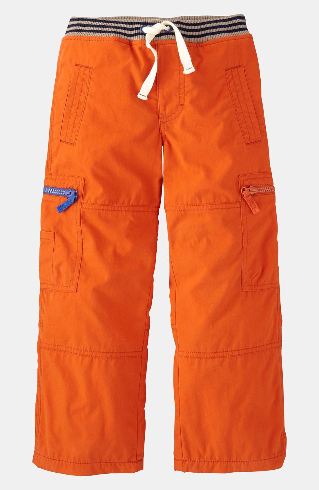 Main Image - Mini Boden Lined Cargo Pants (Little Boys & Big Boys)