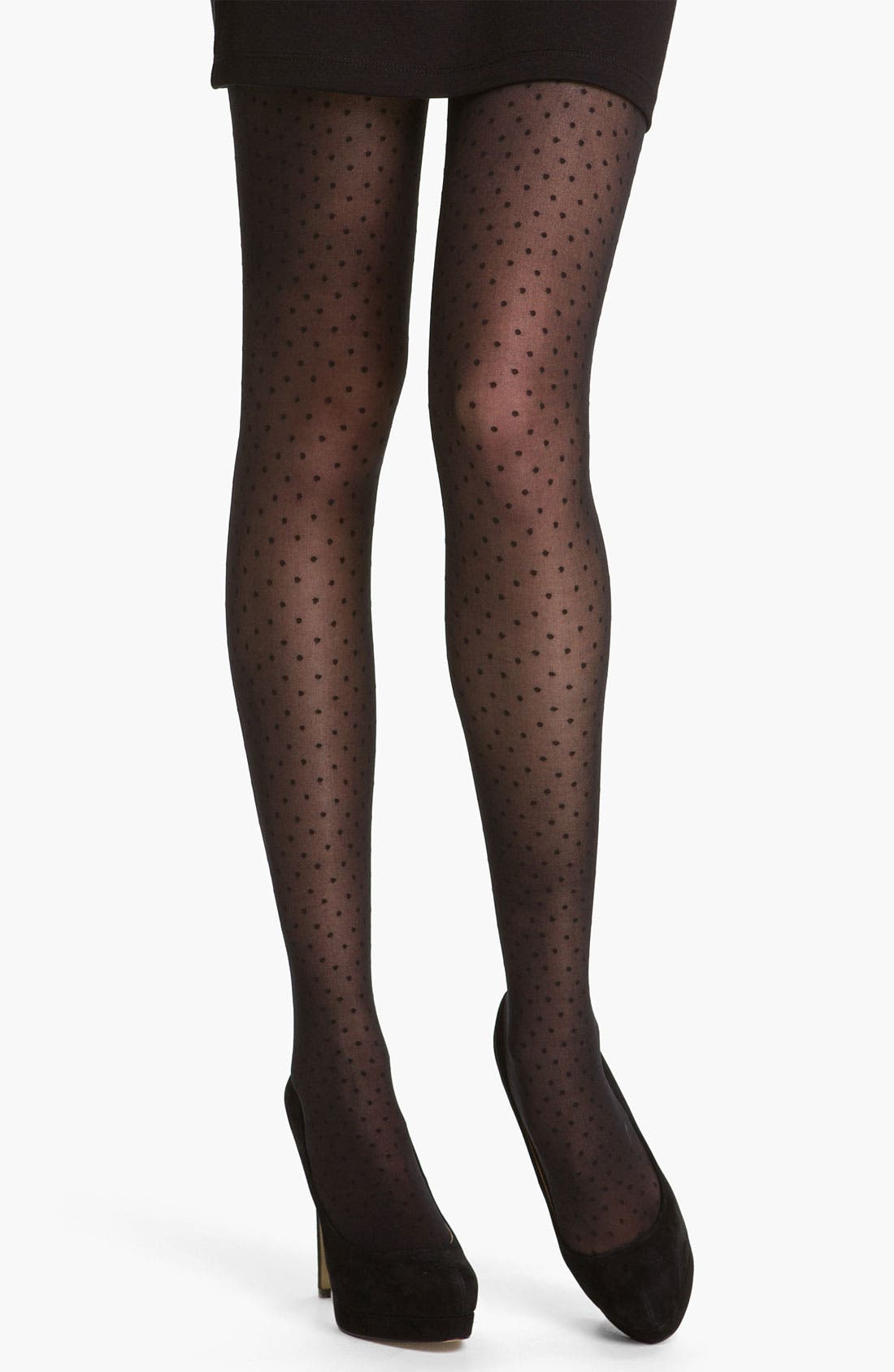 Alternate Image 1 Selected - DKNY Dotted Tights