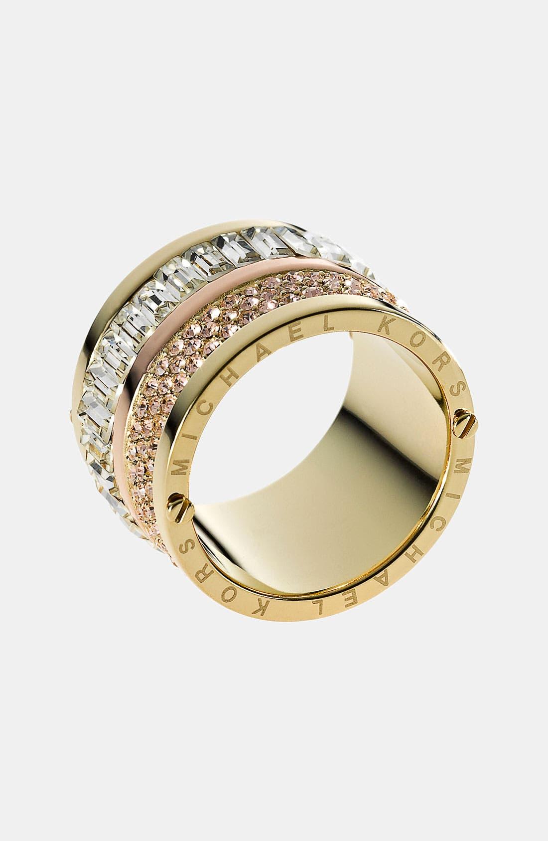 Alternate Image 1 Selected - Michael Kors 'Brilliance' Barrel Ring
