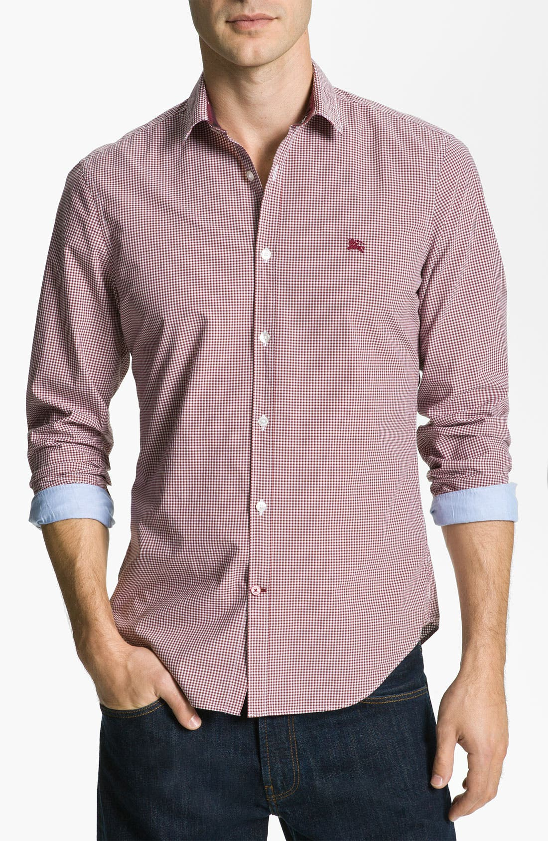Alternate Image 1 Selected - Burberry Brit Trim Fit Sport Shirt