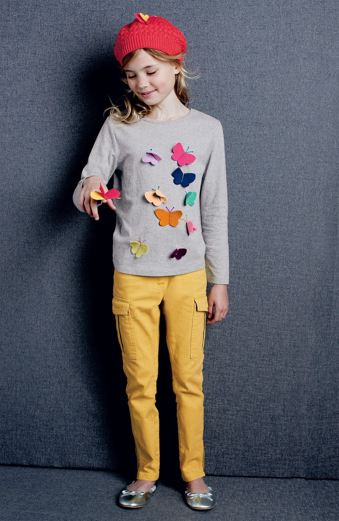 Alternate Image 2  - Mini Boden 'Fluttery' Appliqué Tee (Little Girls & Big Girls)