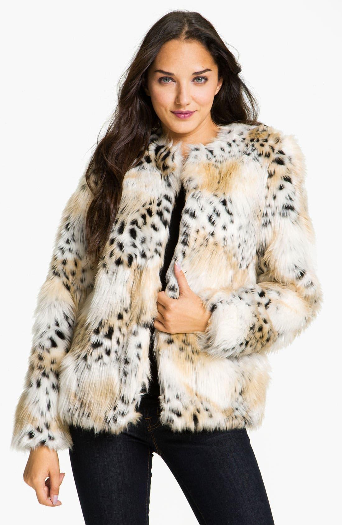 Main Image - Betsey Johnson Faux Fur Jacket