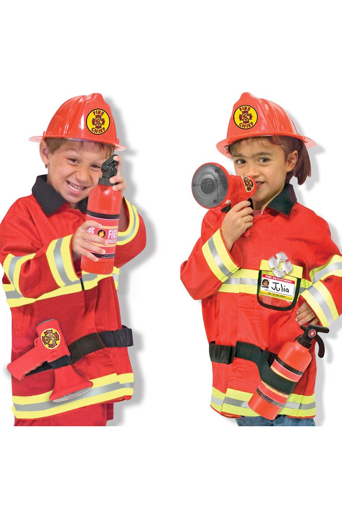 Main Image - Melissa & Doug 'Fire Chief' Costume (Toddler)