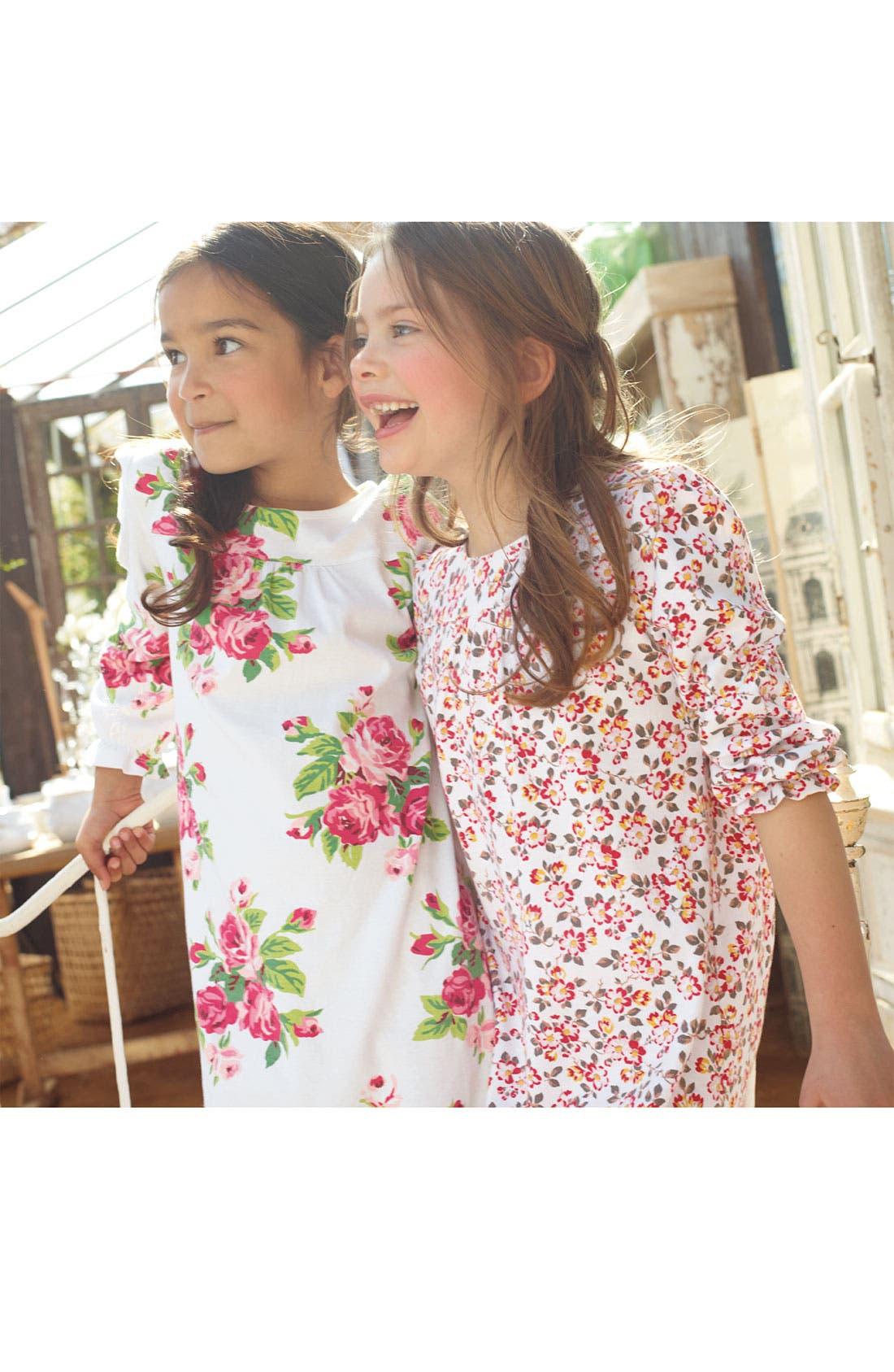 Alternate Image 2  - Mini Boden Print Nightgown (Little Girls & Big Girls)