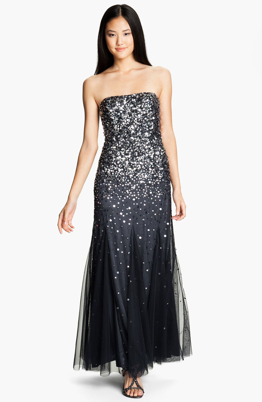 Alternate Image 1 Selected - Adrianna Papell Strapless Sequin Godet Gown