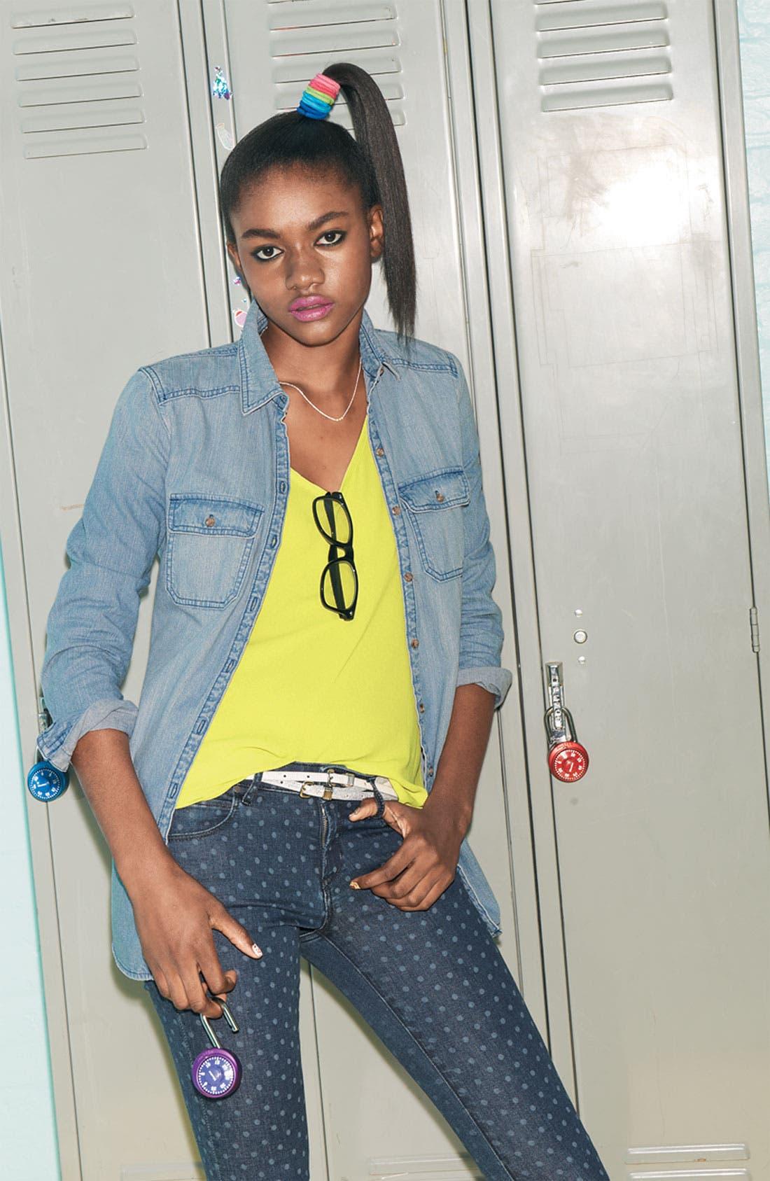 Main Image - Lush Tee, Rubbish® Shirt & Articles of Society Jeans