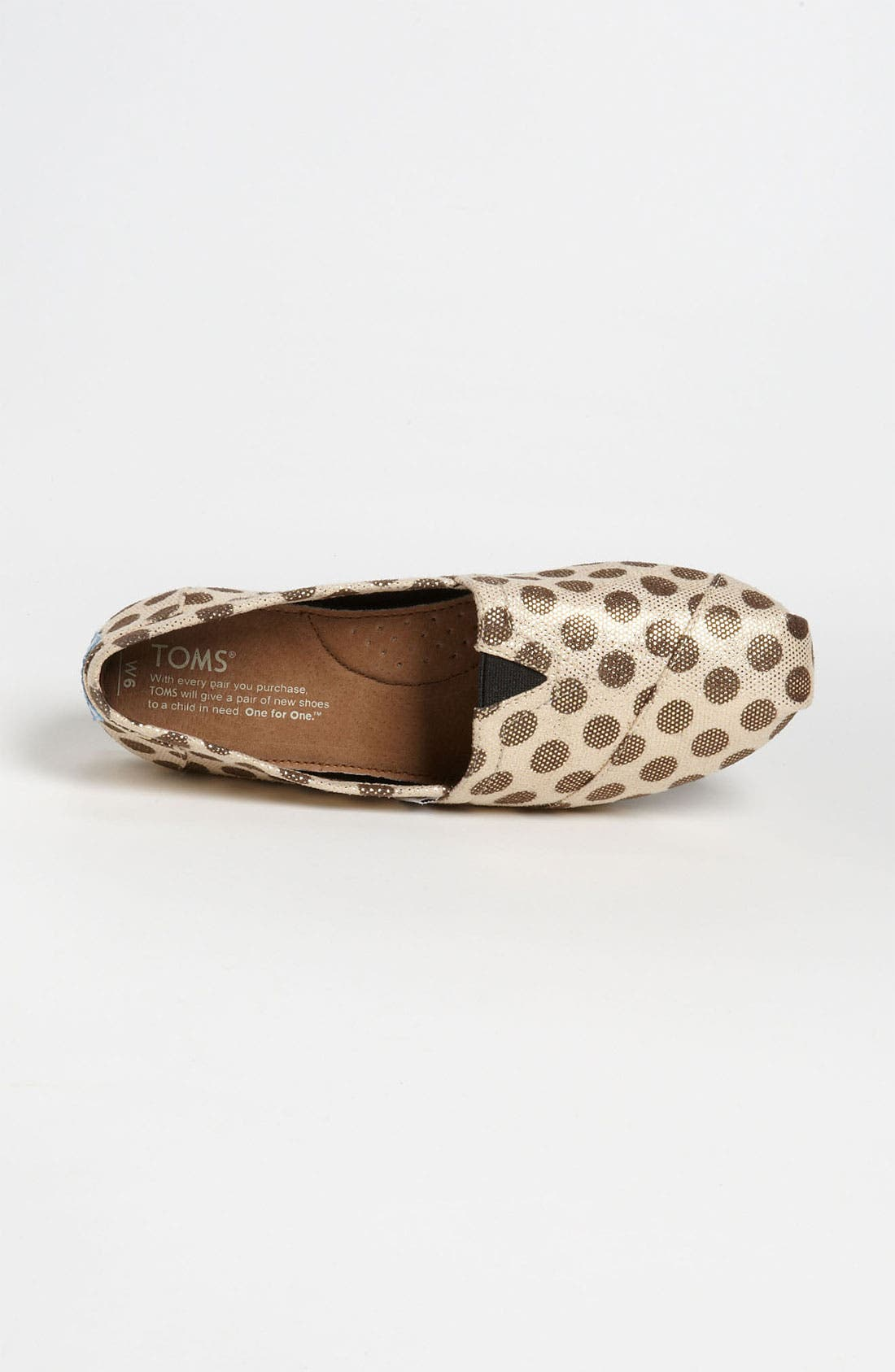 Alternate Image 3  - TOMS 'Classic - Metallic Dot' Slip-On (Women)