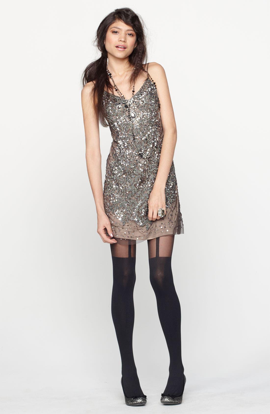 Alternate Image 4  - Adrianna Papell Spaghetti Strap Embellished Mesh Dress