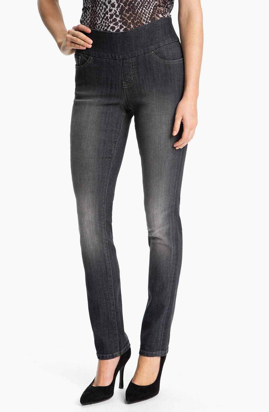 Alternate Image 1 Selected - Jag Jeans 'Malia' Slim Leg Stretch Jeans (Petite)