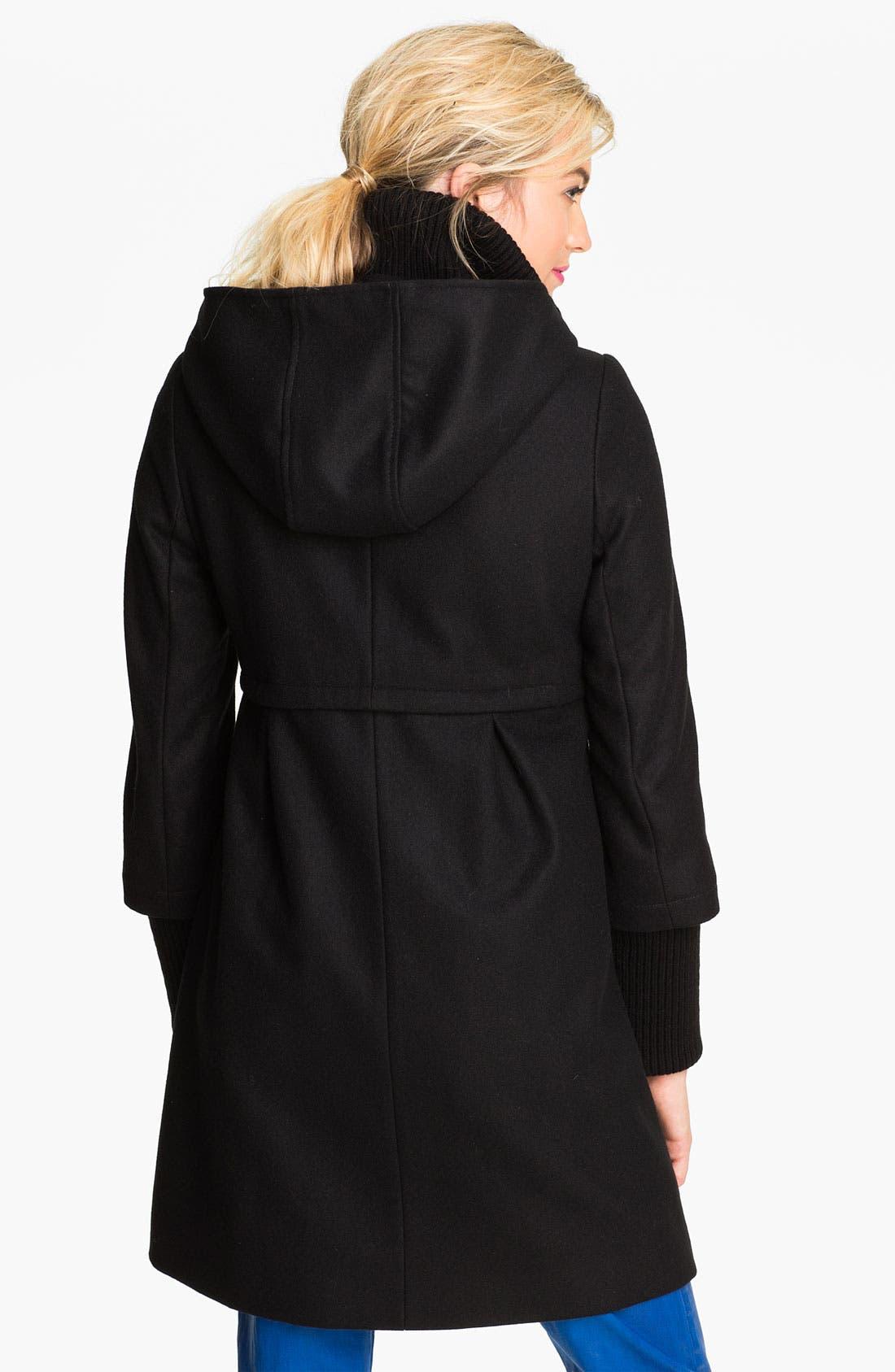 Alternate Image 2  - DKNY 'Bethany' Knit Inset Wool Blend Coat