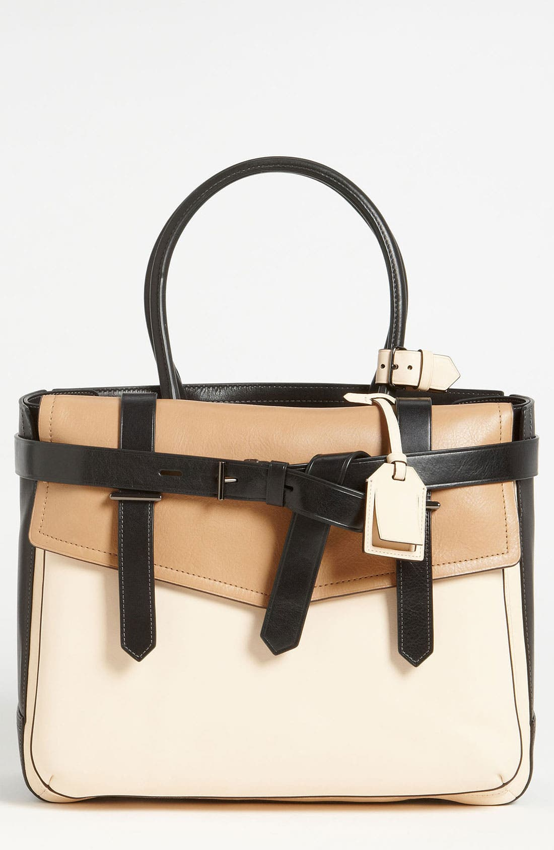 Main Image - Reed Krakoff 'Boxer I' Tricolor Leather Satchel, Large