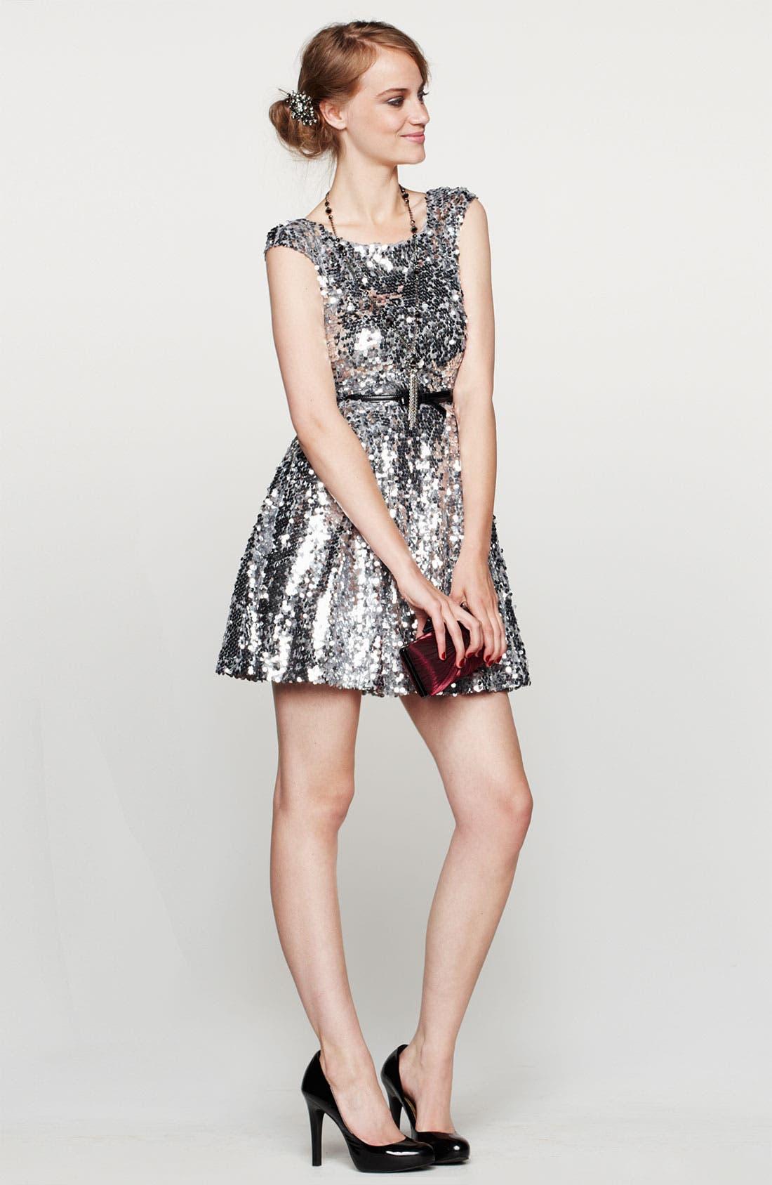 Alternate Image 4  - Trixxi Sequin Dress (Juniors)