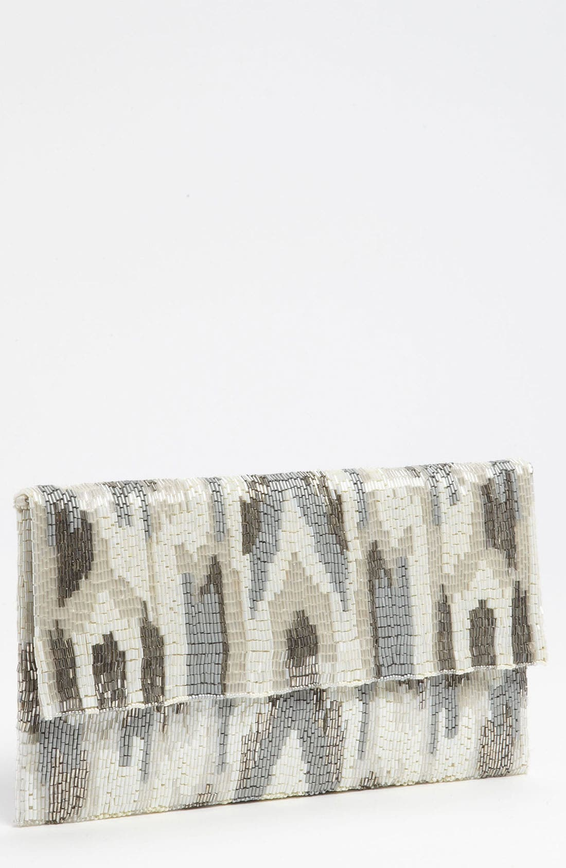 Alternate Image 1 Selected - Moyna Ikat Beaded Oversized Silk Clutch
