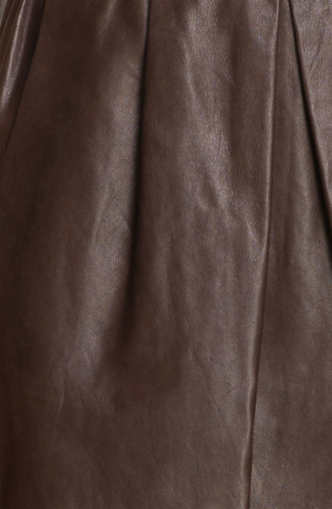 Alternate Image 3  - Vince Pleated Leather Skirt