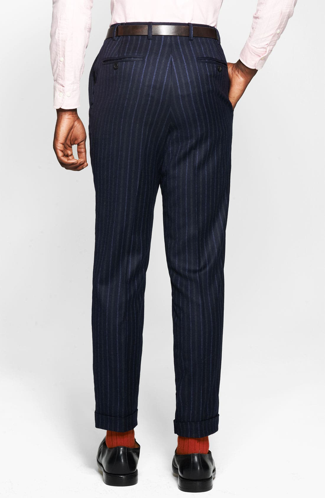 Alternate Image 4  - Canali Chalk Stripe Suit