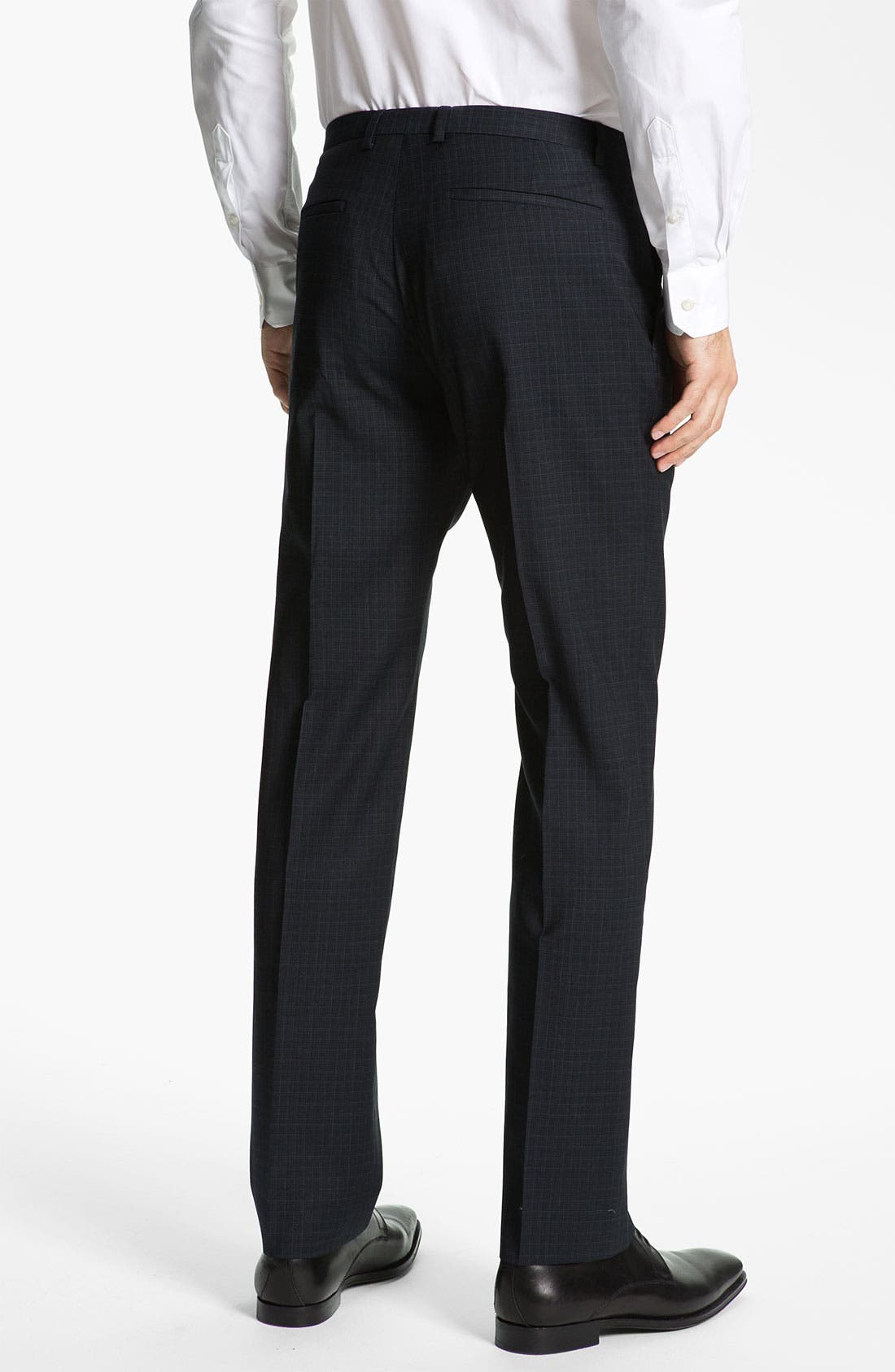 Alternate Image 2  - HUGO 'Heise' Flat Front Wool Pants (Online Only)