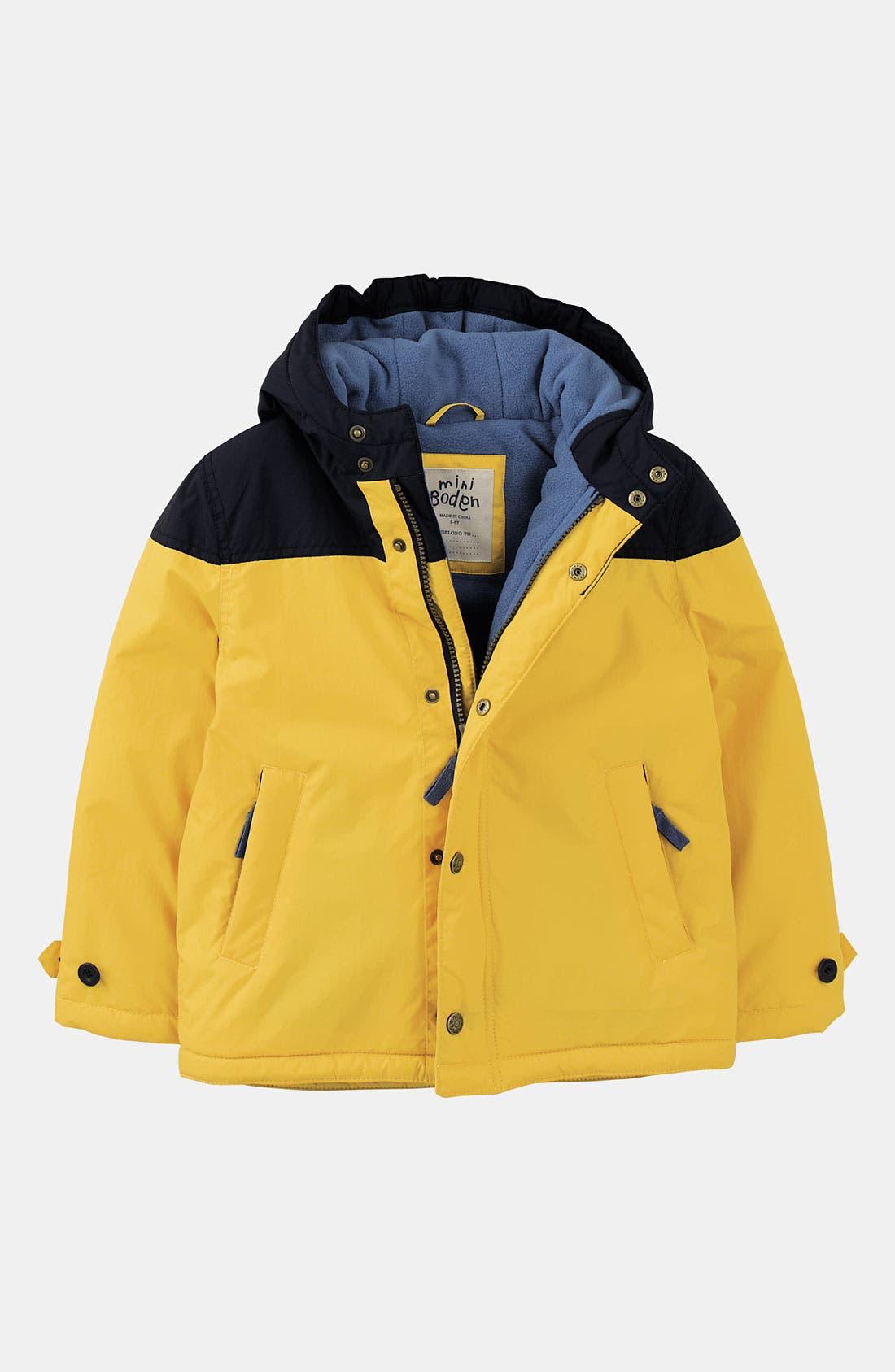 Alternate Image 1 Selected - Mini Boden Fleece Lined Jacket (Little Boys & Big Boys)