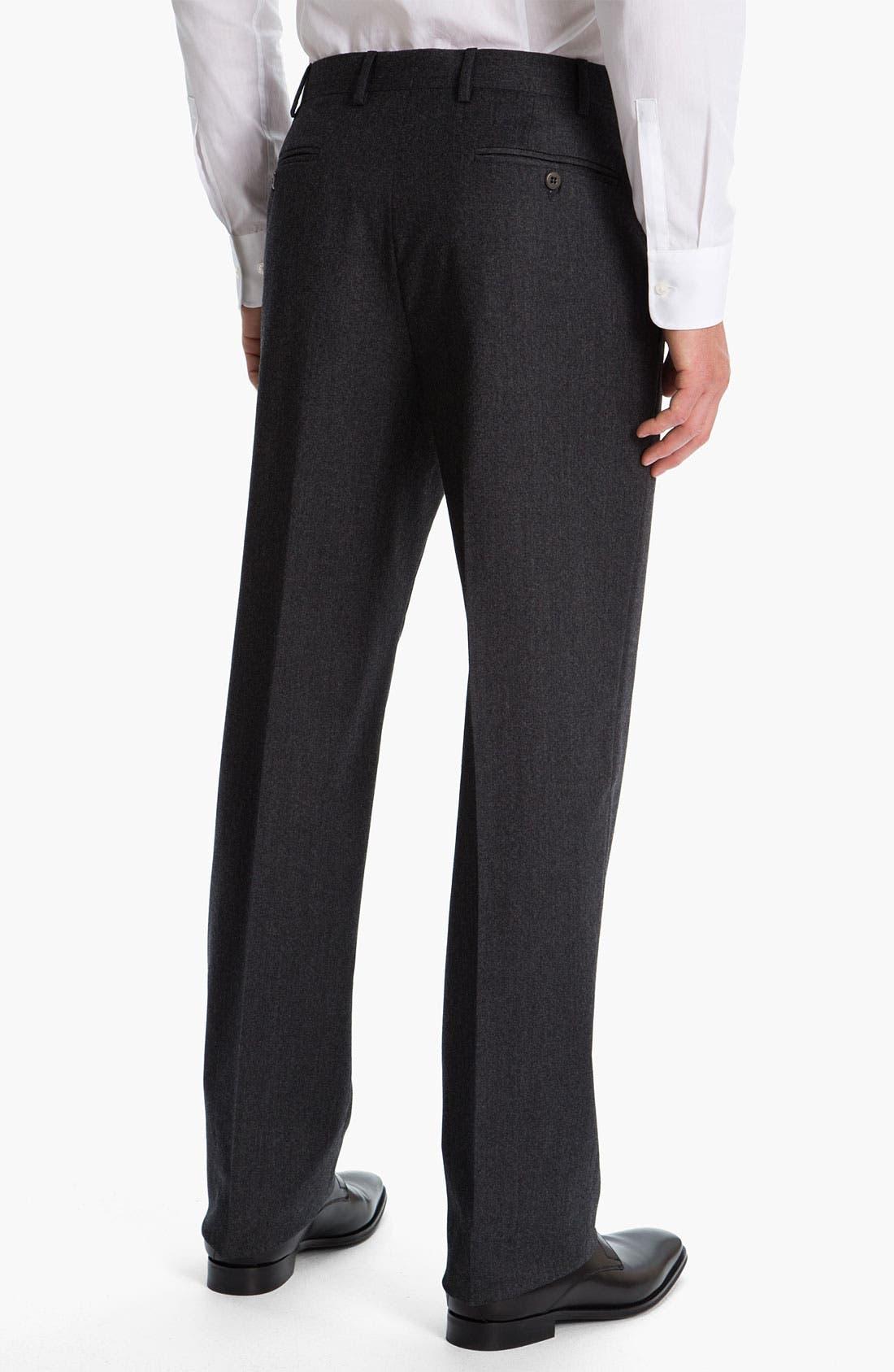 Alternate Image 2  - Zanella 'Todd' Flat Front Trousers