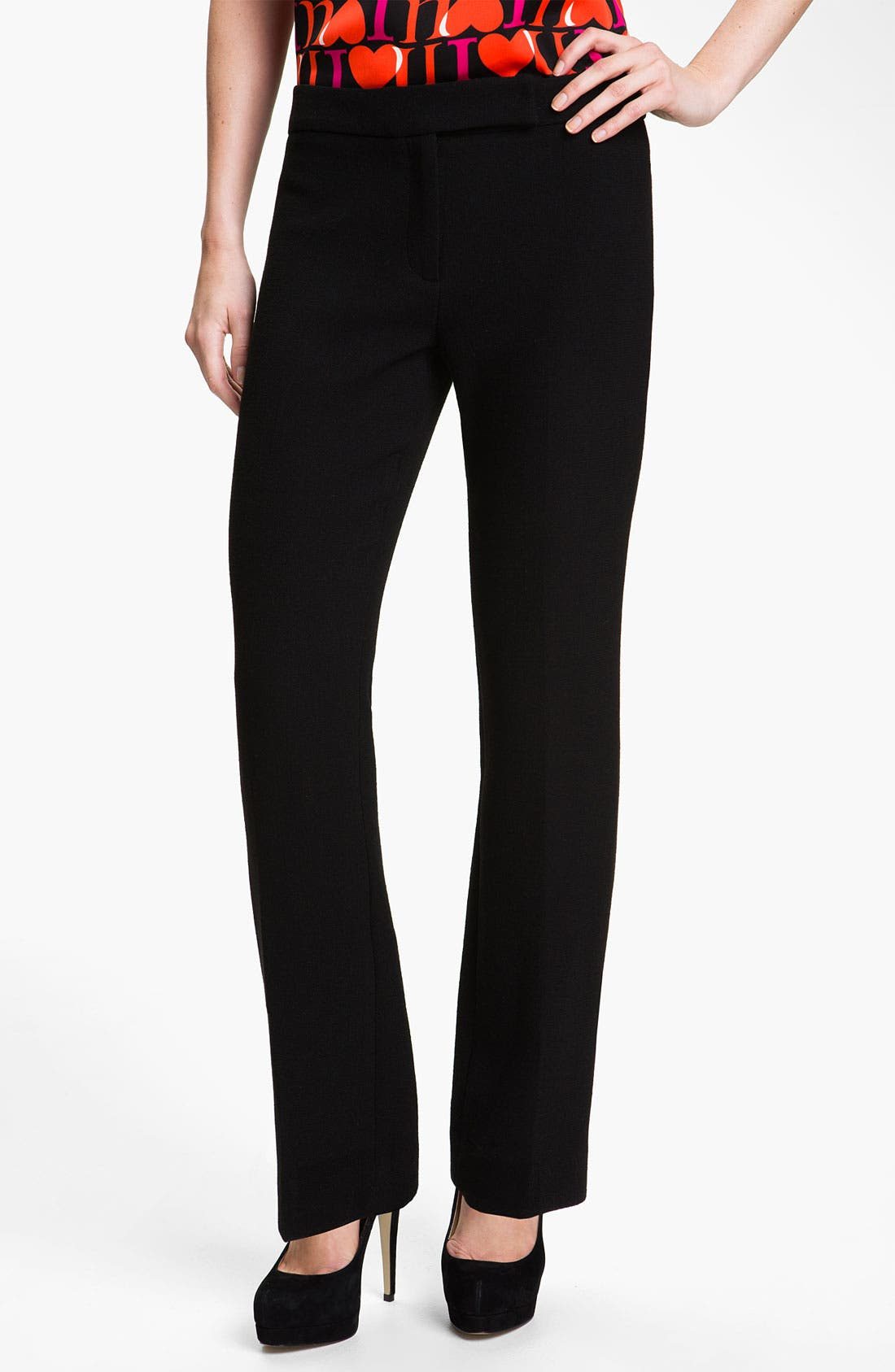 Alternate Image 1 Selected - Milly Straight Leg Crepe Pants