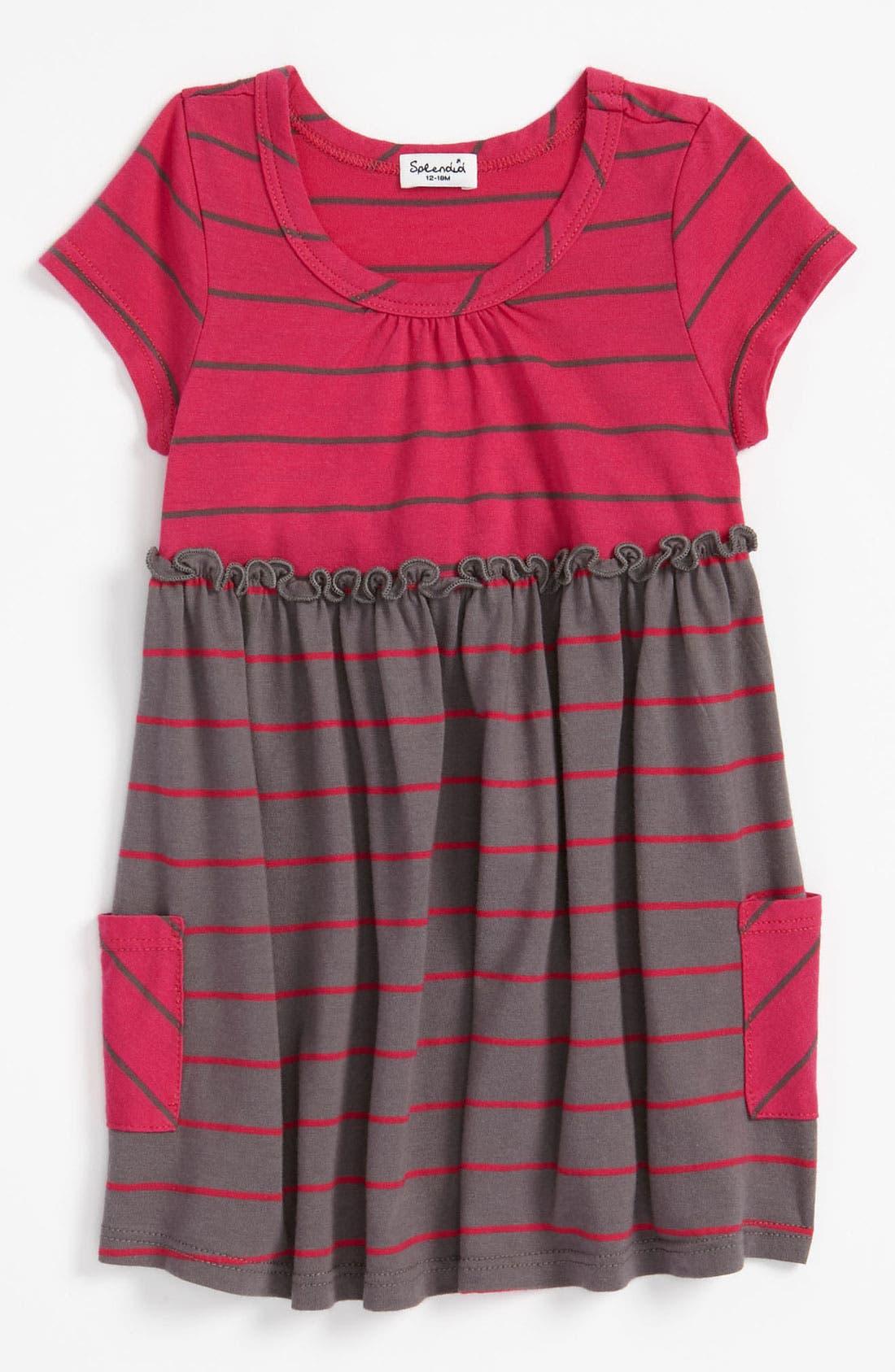 Alternate Image 1 Selected - Splendid 'Lacrosse' Stripe Dress (Infant)