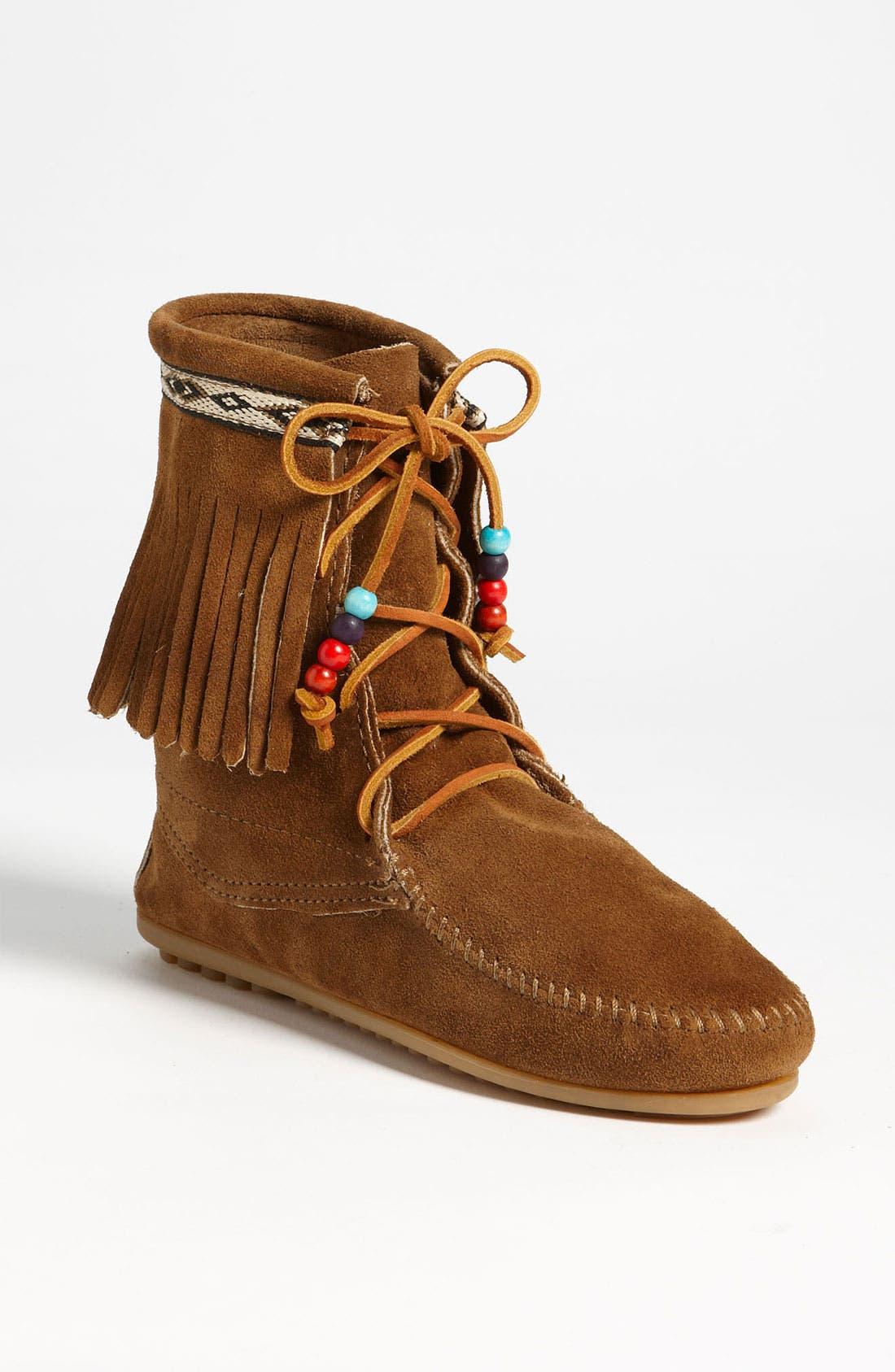 Alternate Image 1 Selected - Minnetonka 'Beaded Tramper' Boot