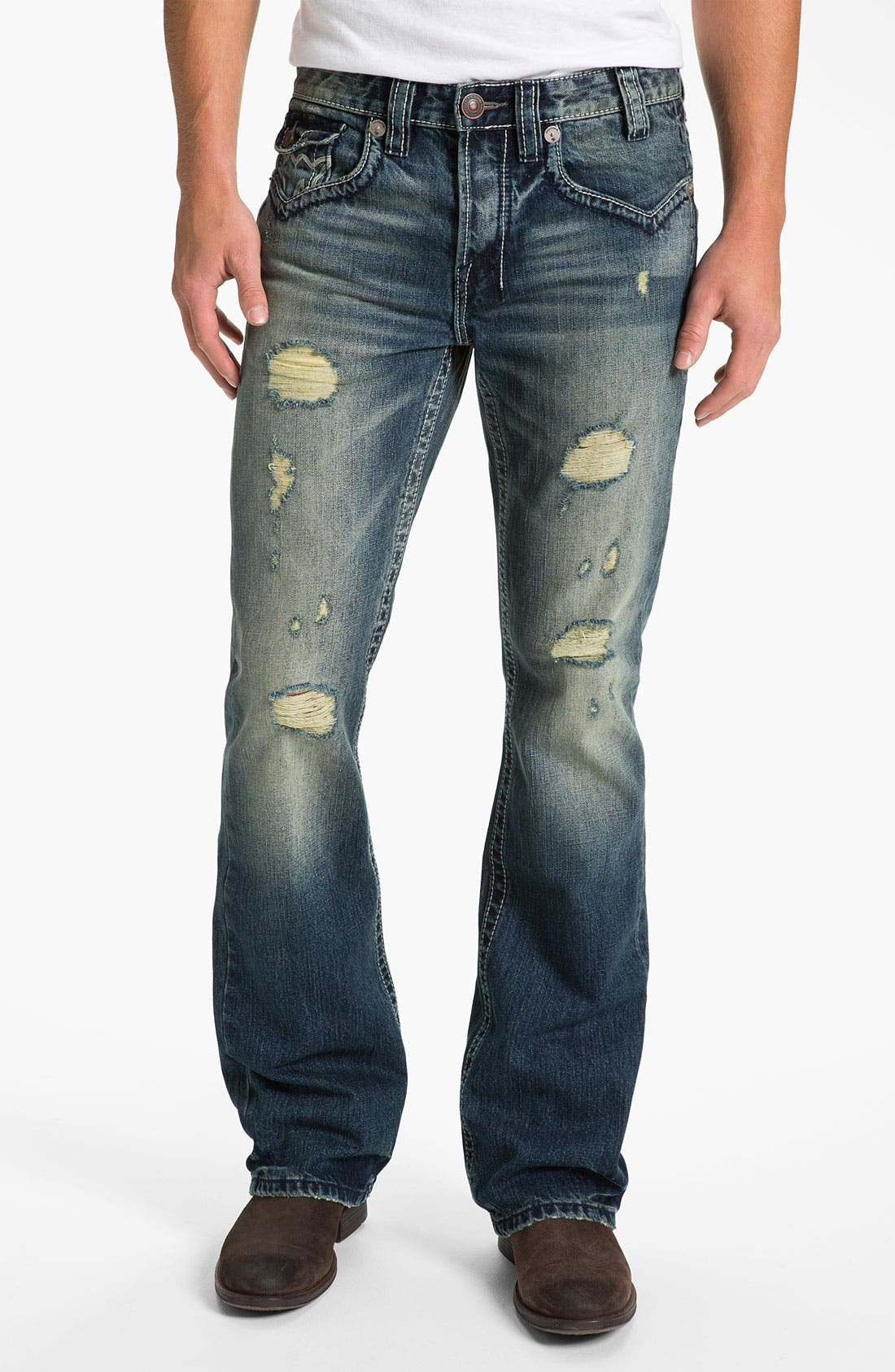 Alternate Image 2  - MEK Denim 'Oaxaca' Slim Bootcut Jeans (Medium Blue)