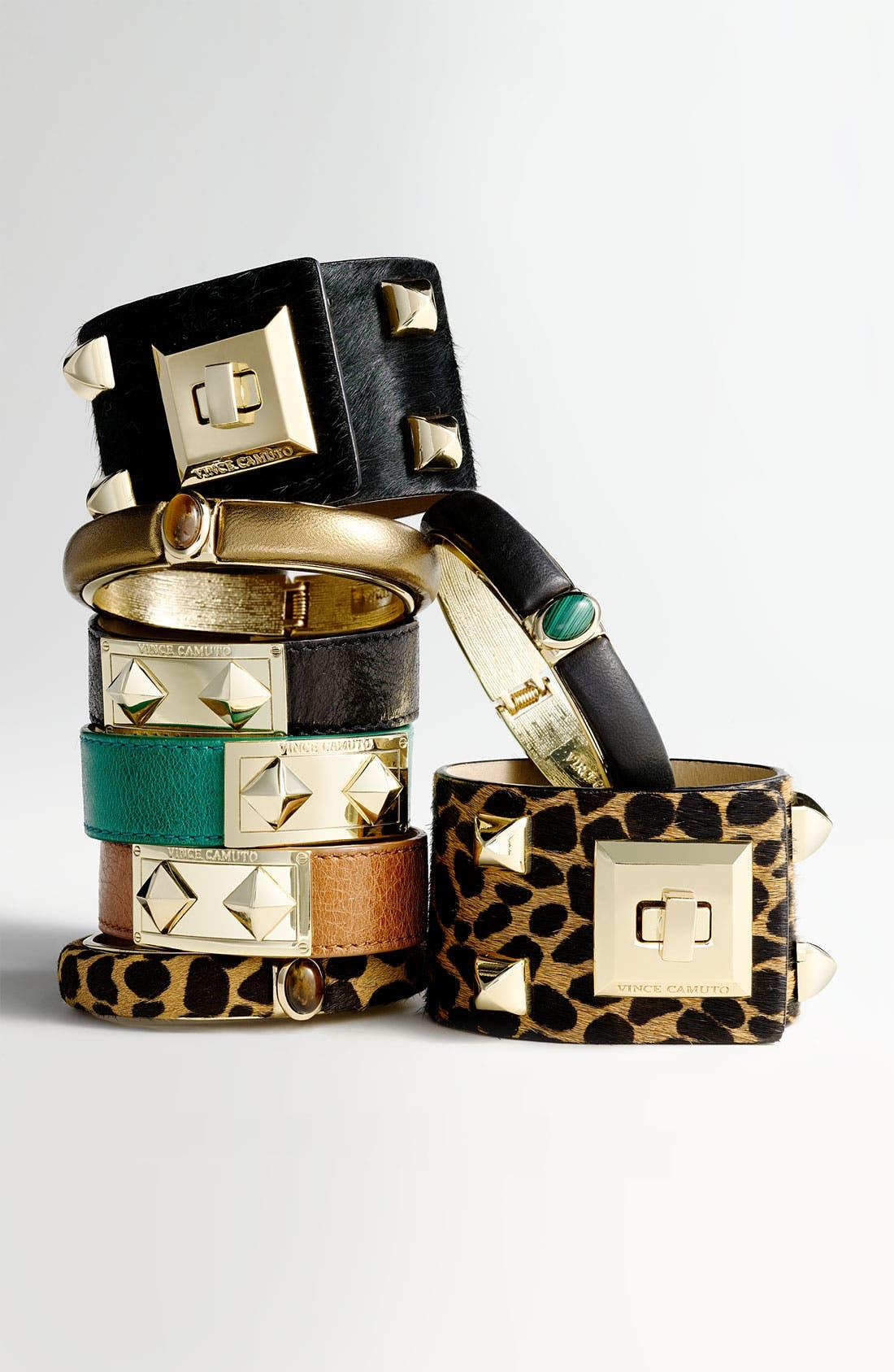 Alternate Image 2  - Vince Camuto Studded Leather Wrap Bracelet
