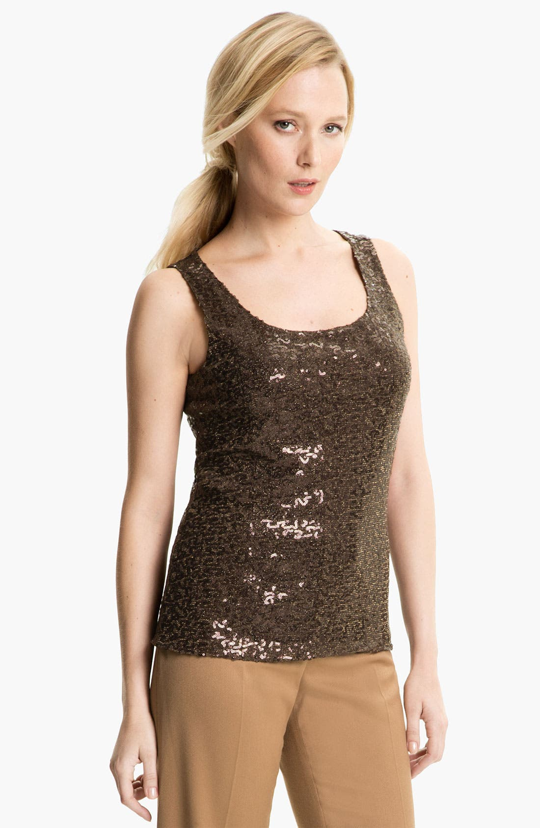 Alternate Image 1 Selected - Anne Klein Sequin Tank (Petite)