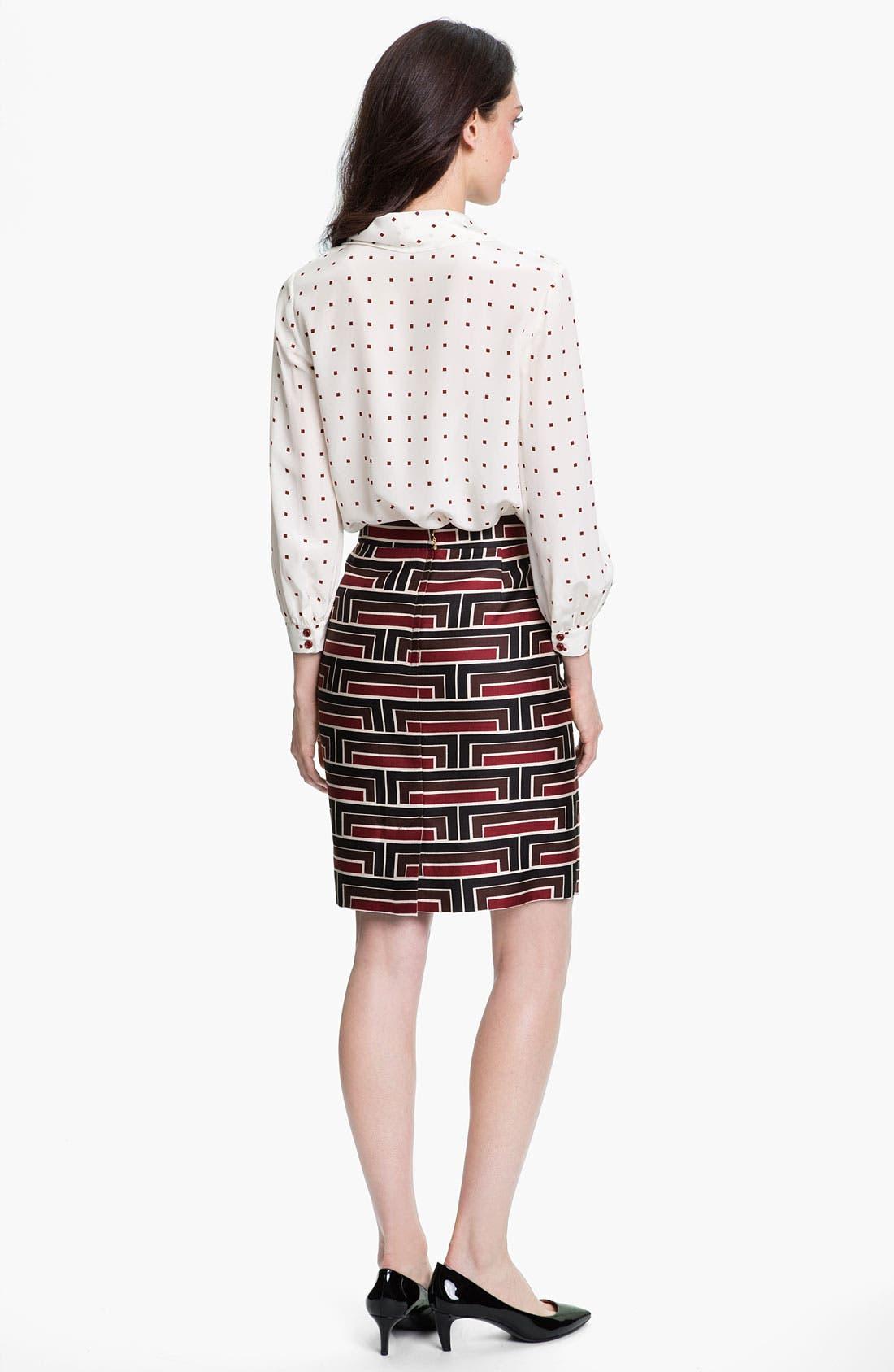 Alternate Image 3  - kate spade new york 'jordan' print skirt