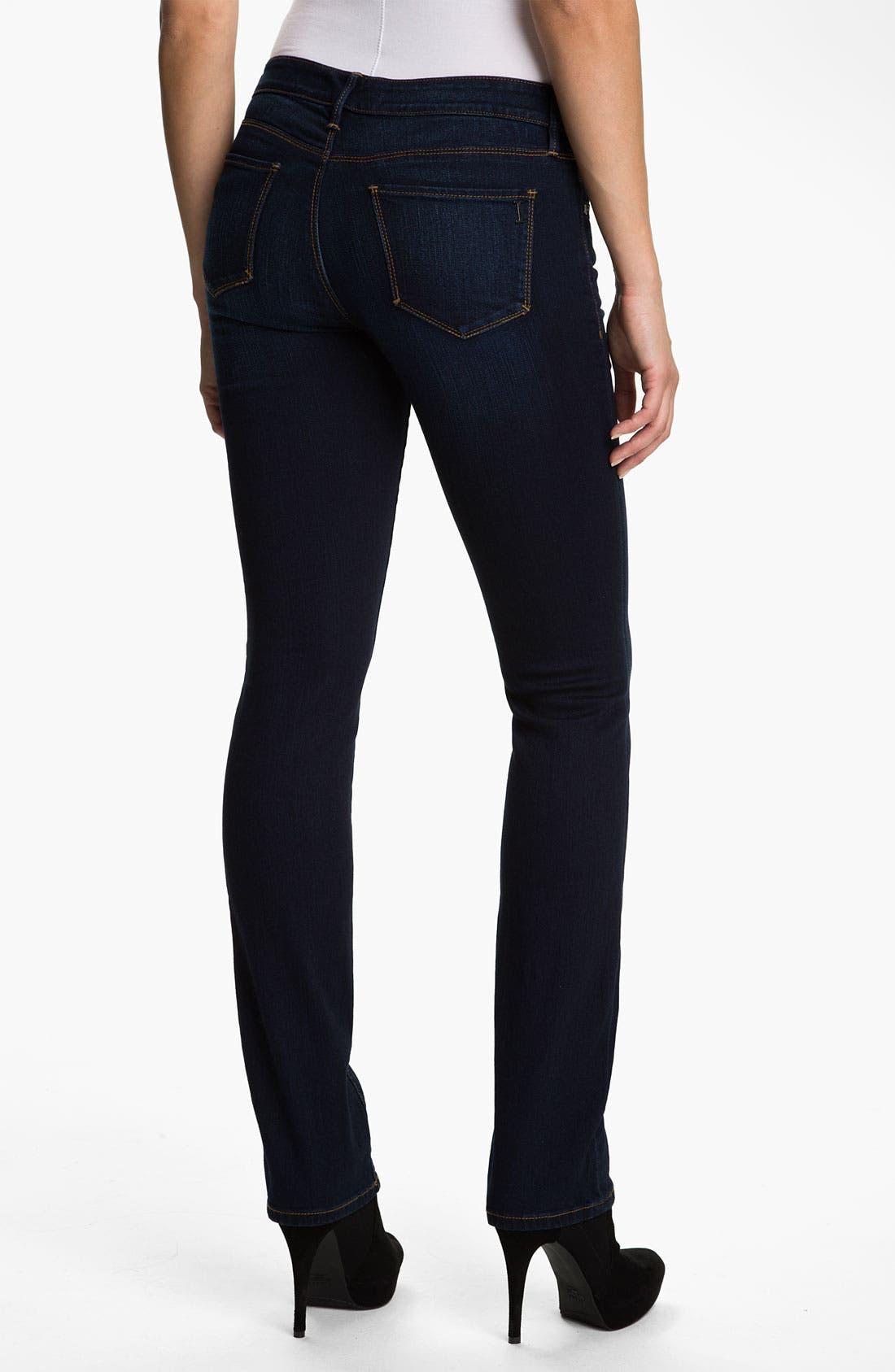 Alternate Image 2  - Isaac Mizrahi Jeans 'Emma' Straight Leg Jeans (Tribeca Wash)